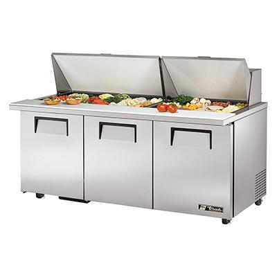 True Manufacturing Co., Inc. TSSU-72-30M-B-ST-ADA-HC refrigerated counter, mega top sandwich / salad unit
