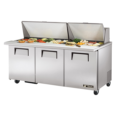 True Manufacturing Co., Inc. TSSU-72-30M-B-ST-HC refrigerated counter, mega top sandwich / salad unit