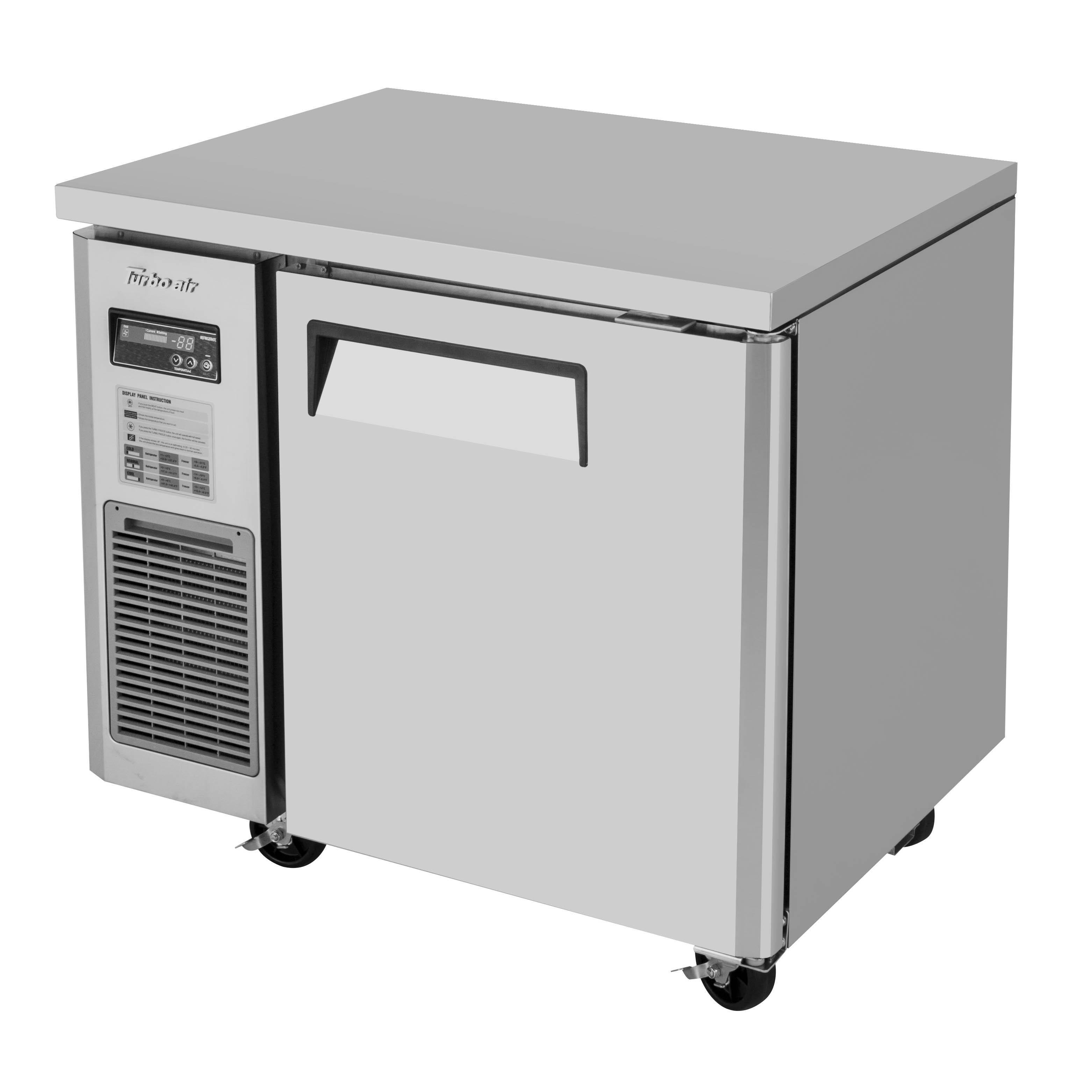 Turbo Air JUF-36-N freezer, undercounter, reach-in