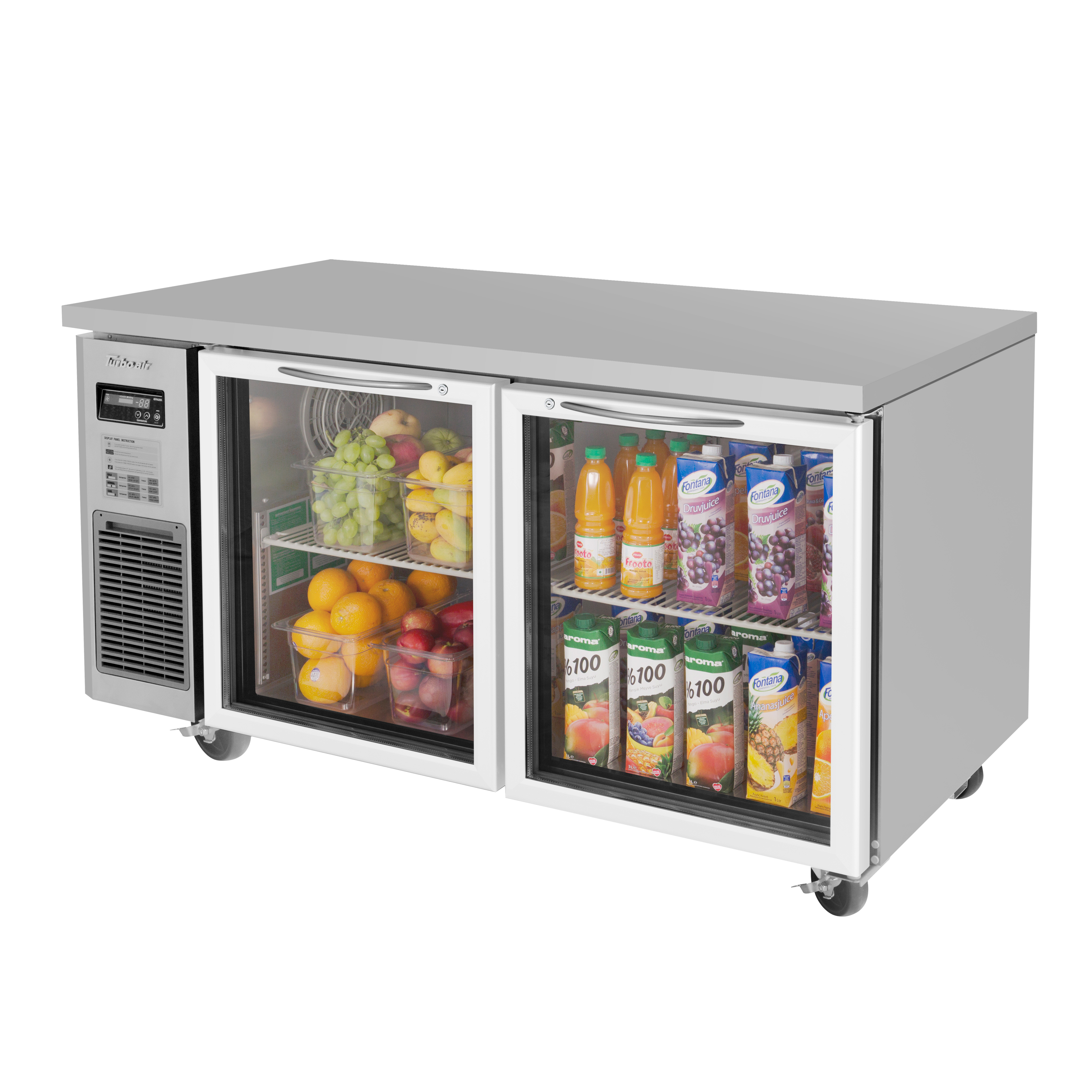 Turbo Air JUR-60-G-N refrigerator, undercounter, reach-in