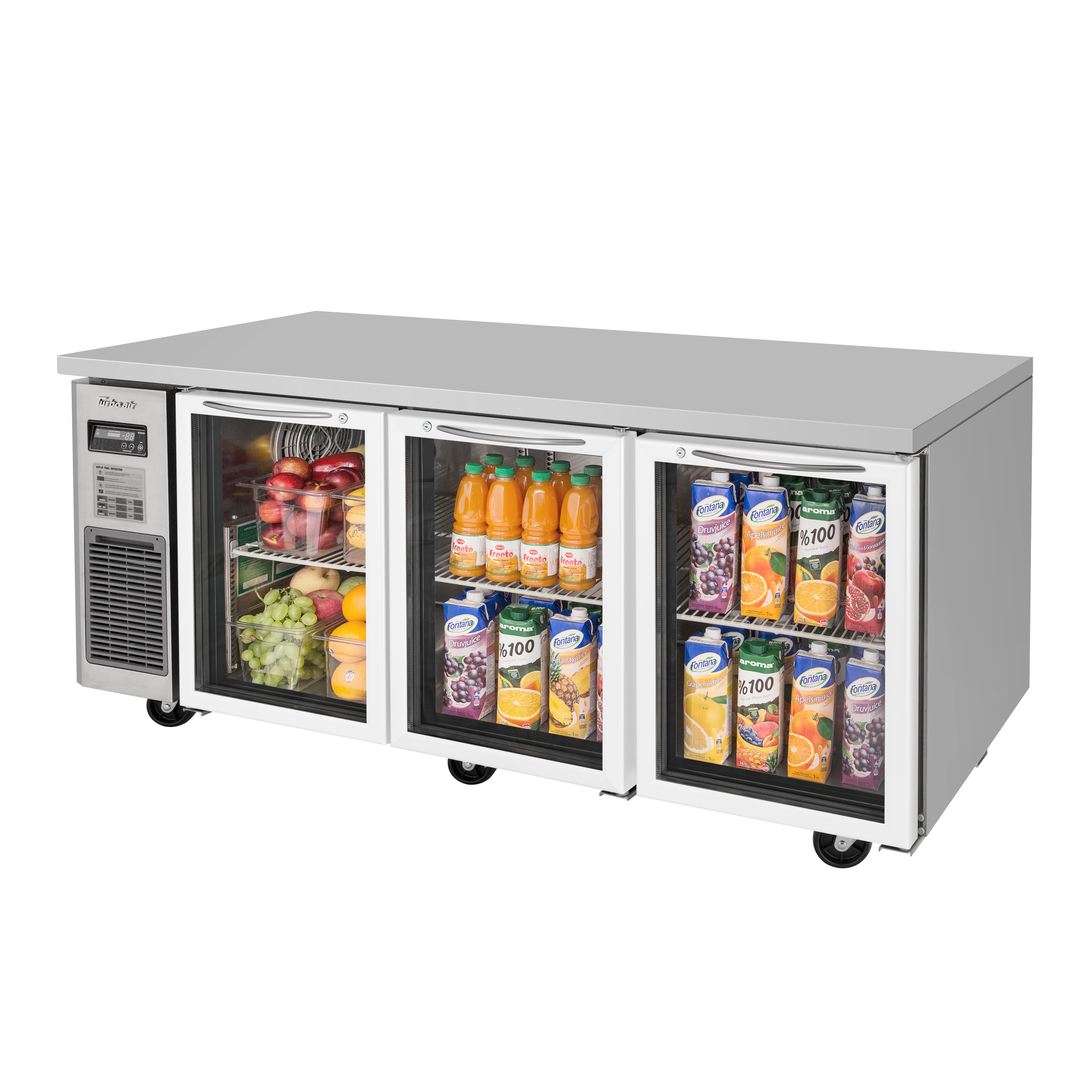 Turbo Air JUR-72-G-N refrigerator, undercounter, reach-in