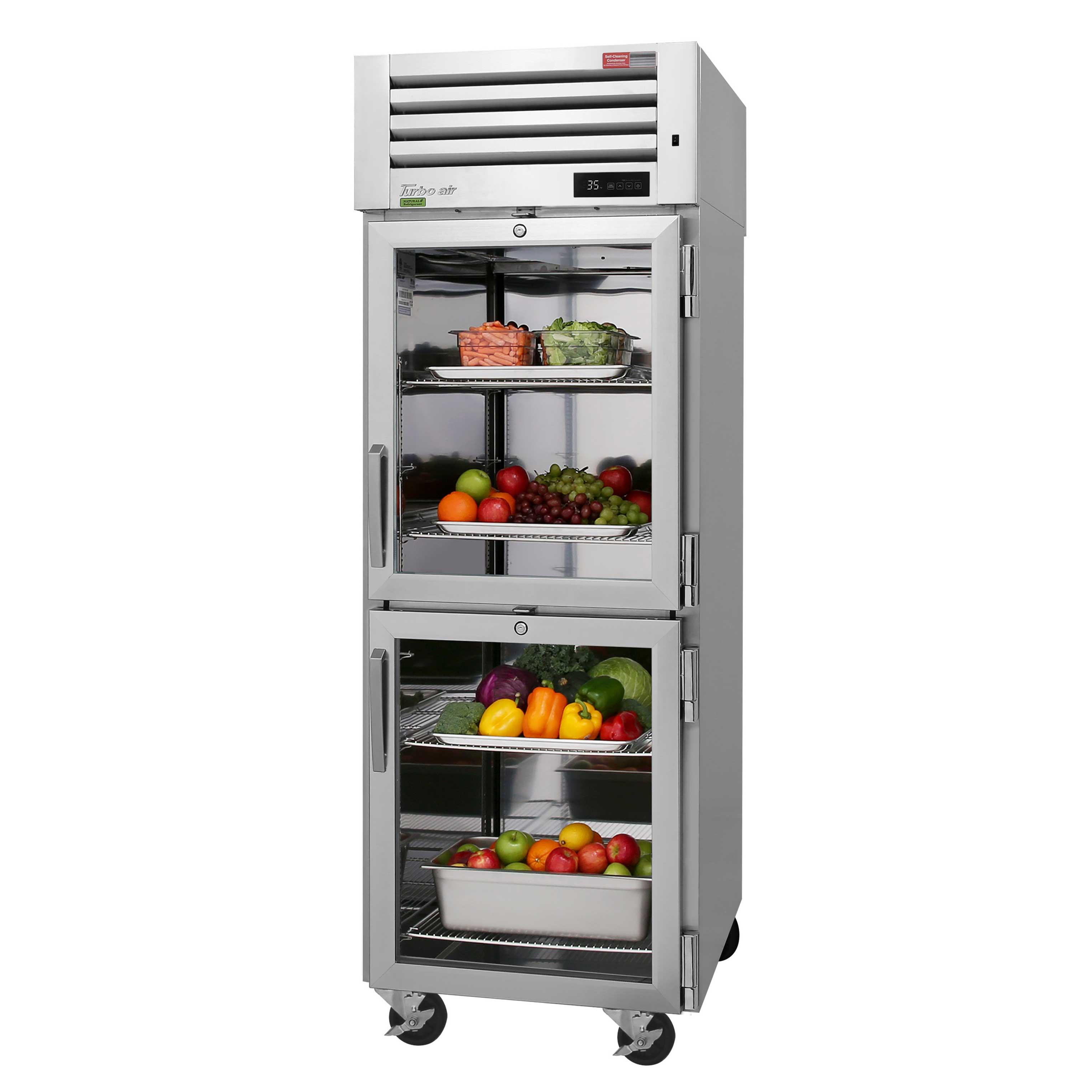 Turbo Air PRO-26-2R-G-PT-N refrigerator, pass-thru