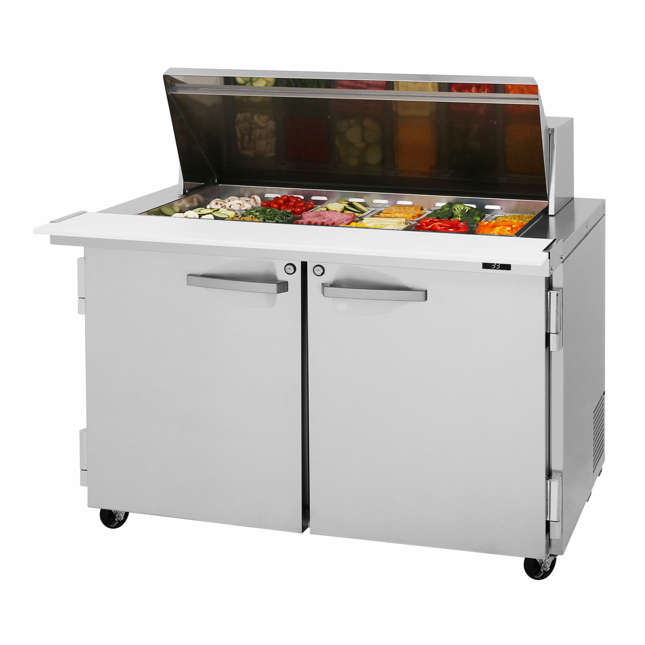 Turbo Air PST-48-18-N refrigerated counter, mega top sandwich / salad unit