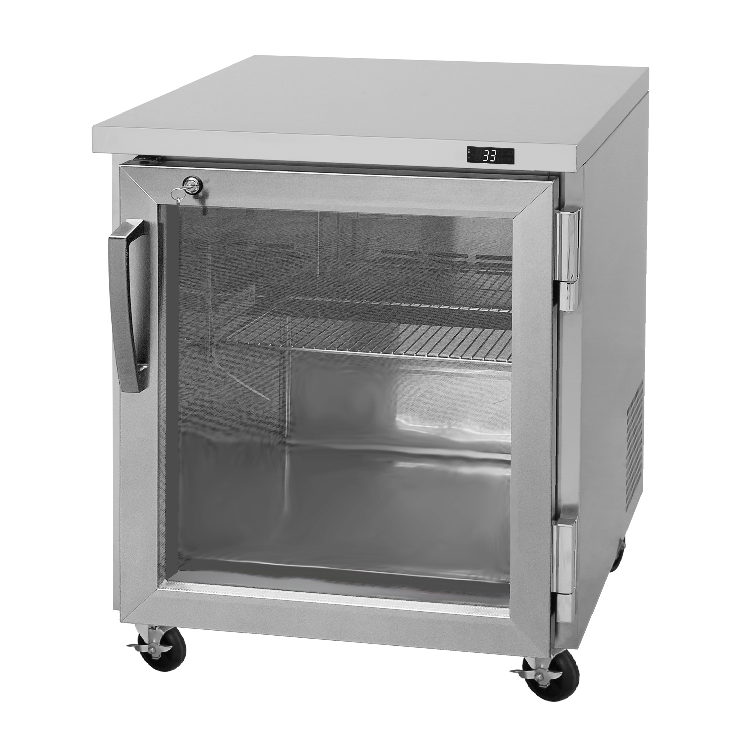 Turbo Air PUR-28-G-N refrigerator, undercounter, reach-in