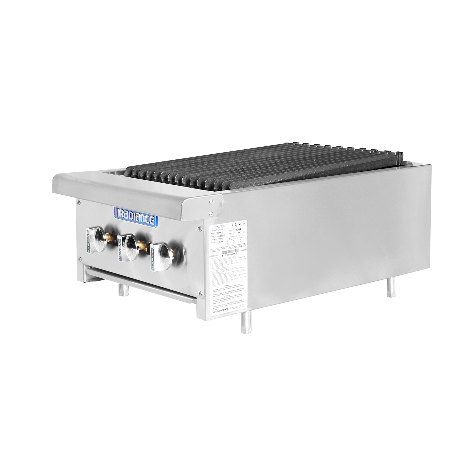 Turbo Air TARB-18 charbroiler, gas, countertop