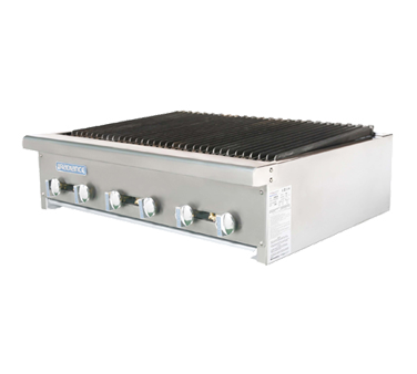 Turbo Air TARB-36 charbroiler, gas, countertop