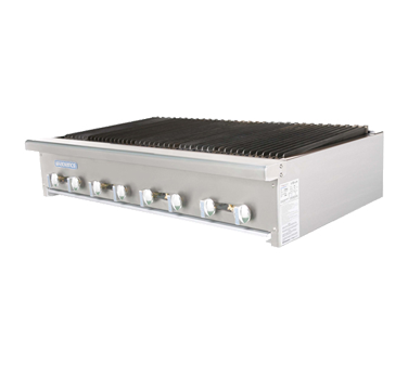 Turbo Air TARB-48 charbroiler, gas, countertop