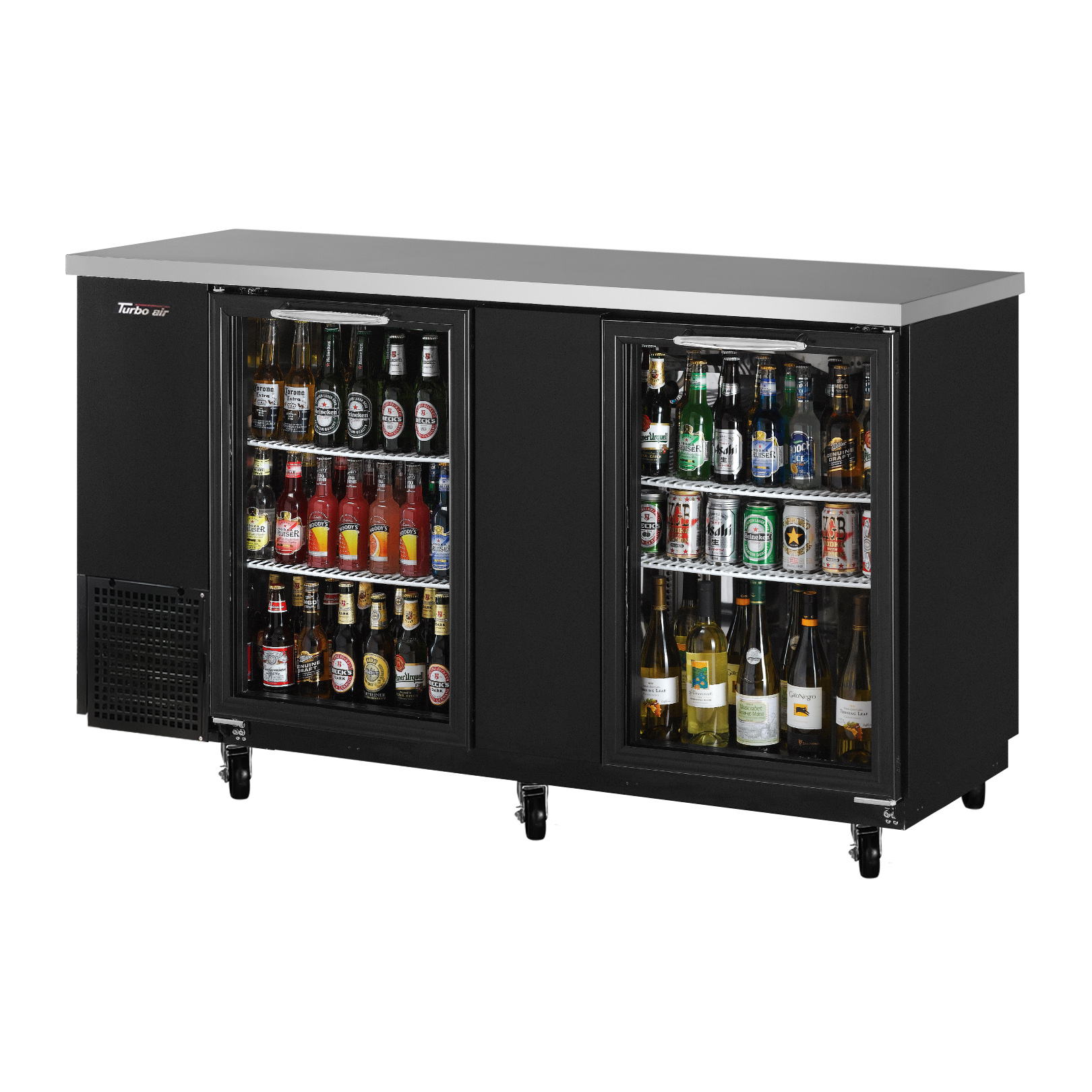 Turbo Air TBB-24-60SG-N back bar cabinet, refrigerated