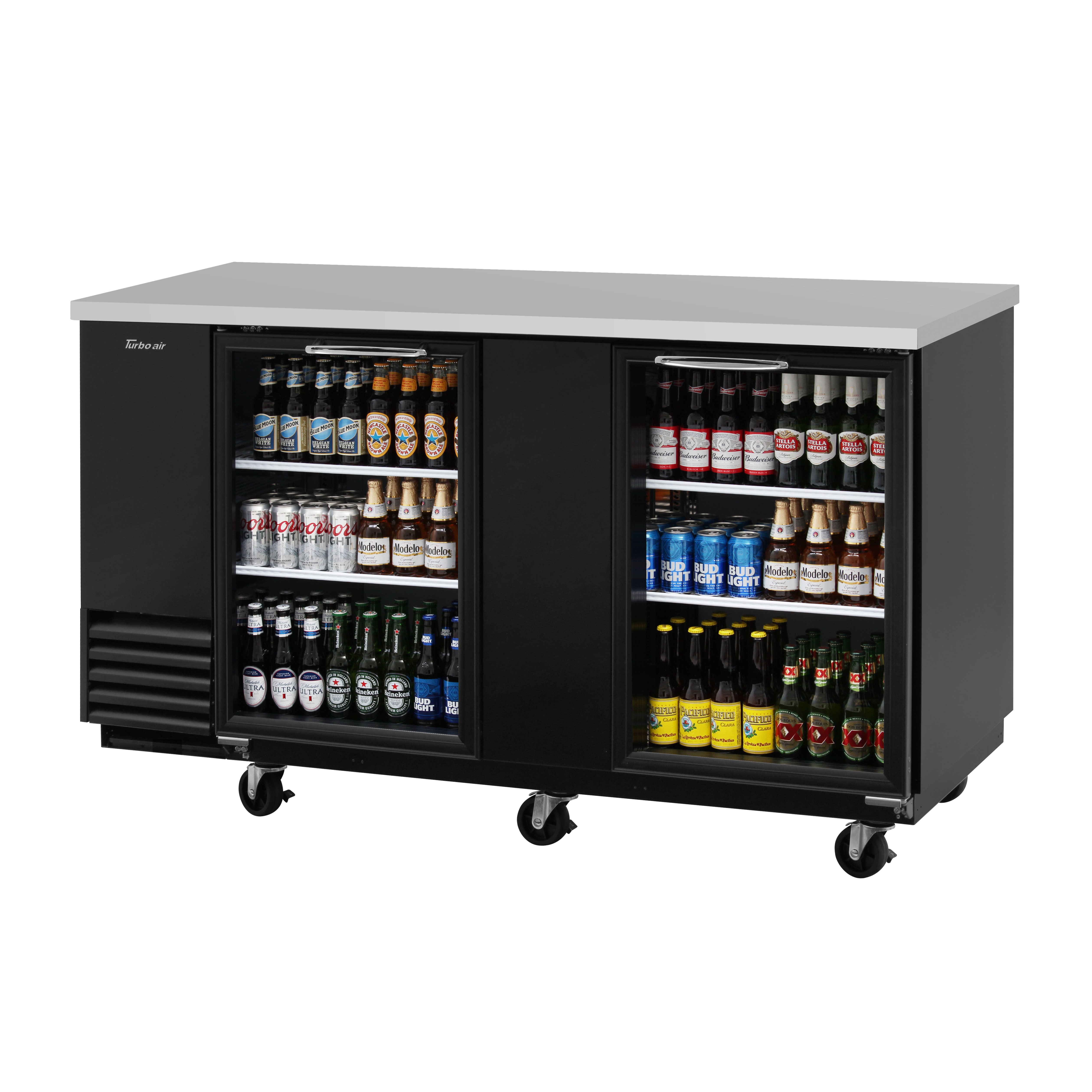 Turbo Air TBB-3SG-N back bar cabinet, refrigerated