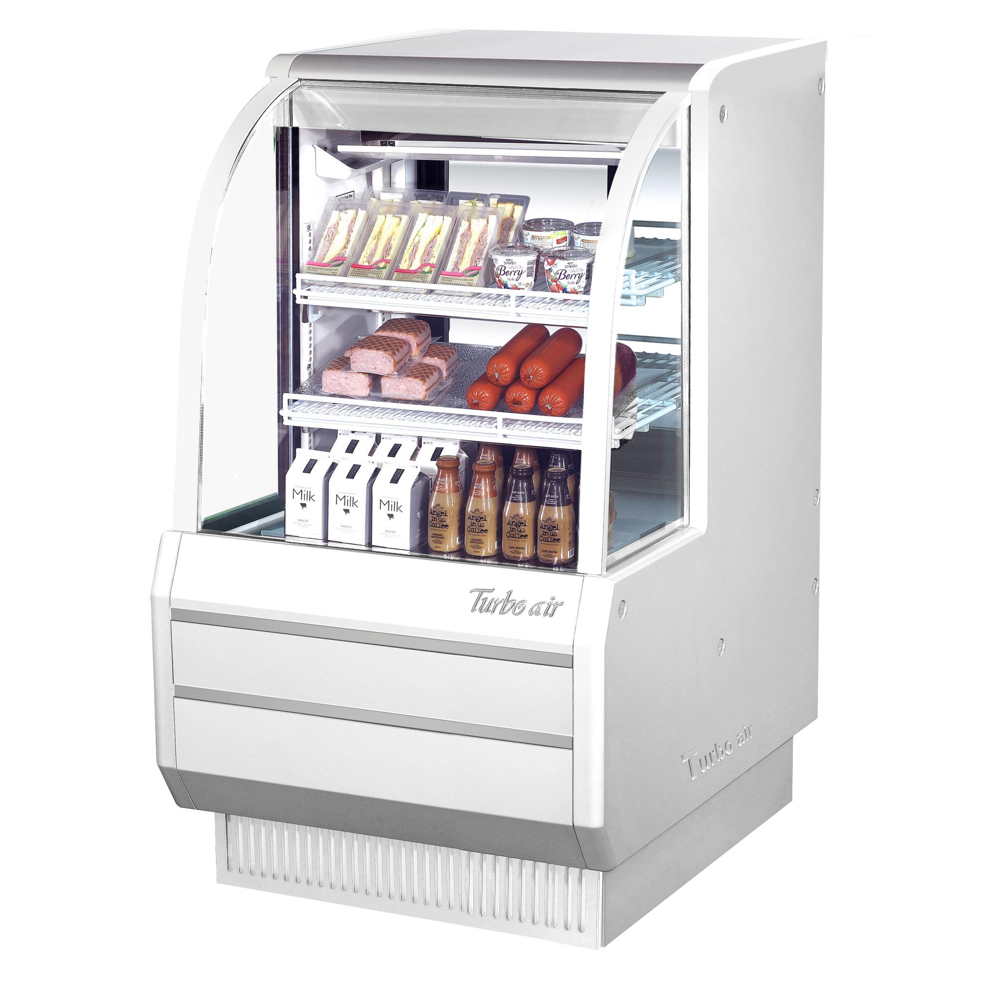 Turbo Air TCDD-36H-W(B)-N display case, refrigerated deli