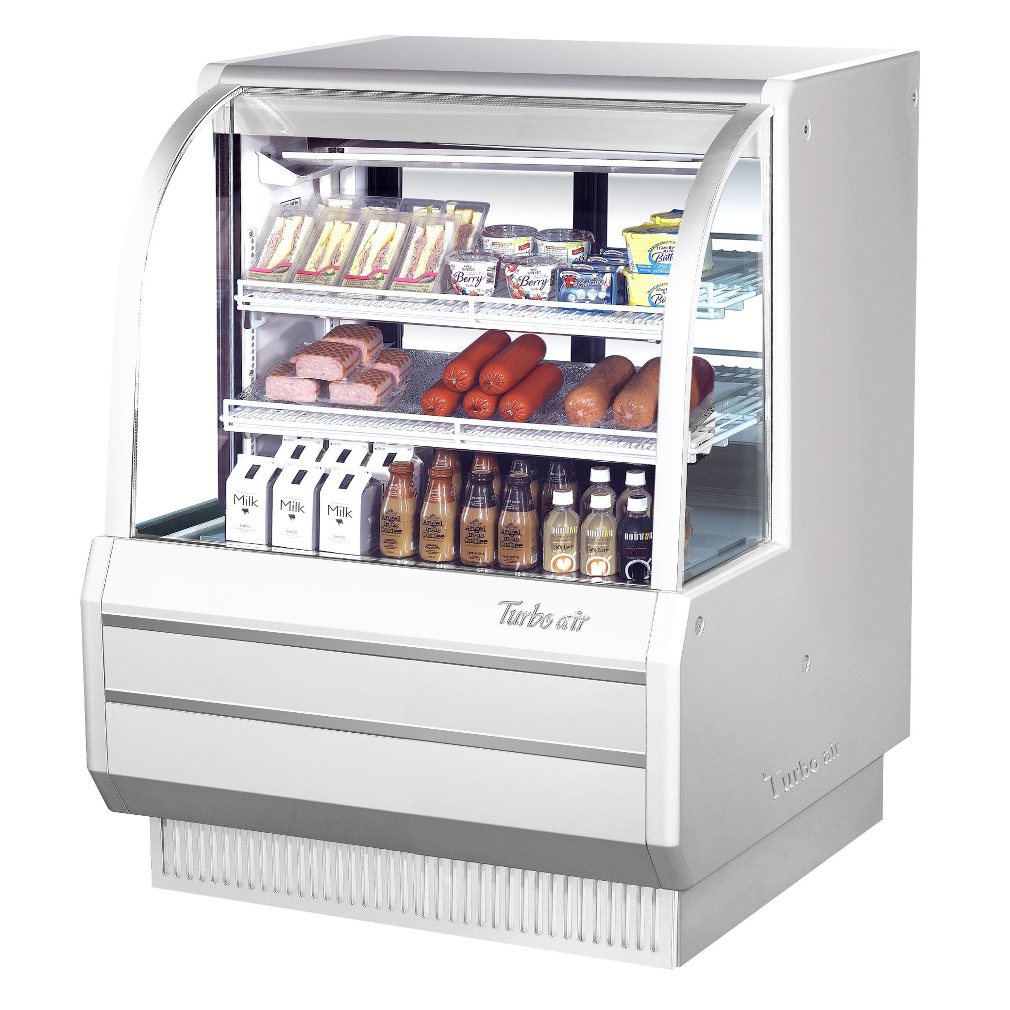 Turbo Air TCDD-48H-W(B)-N display case, refrigerated deli