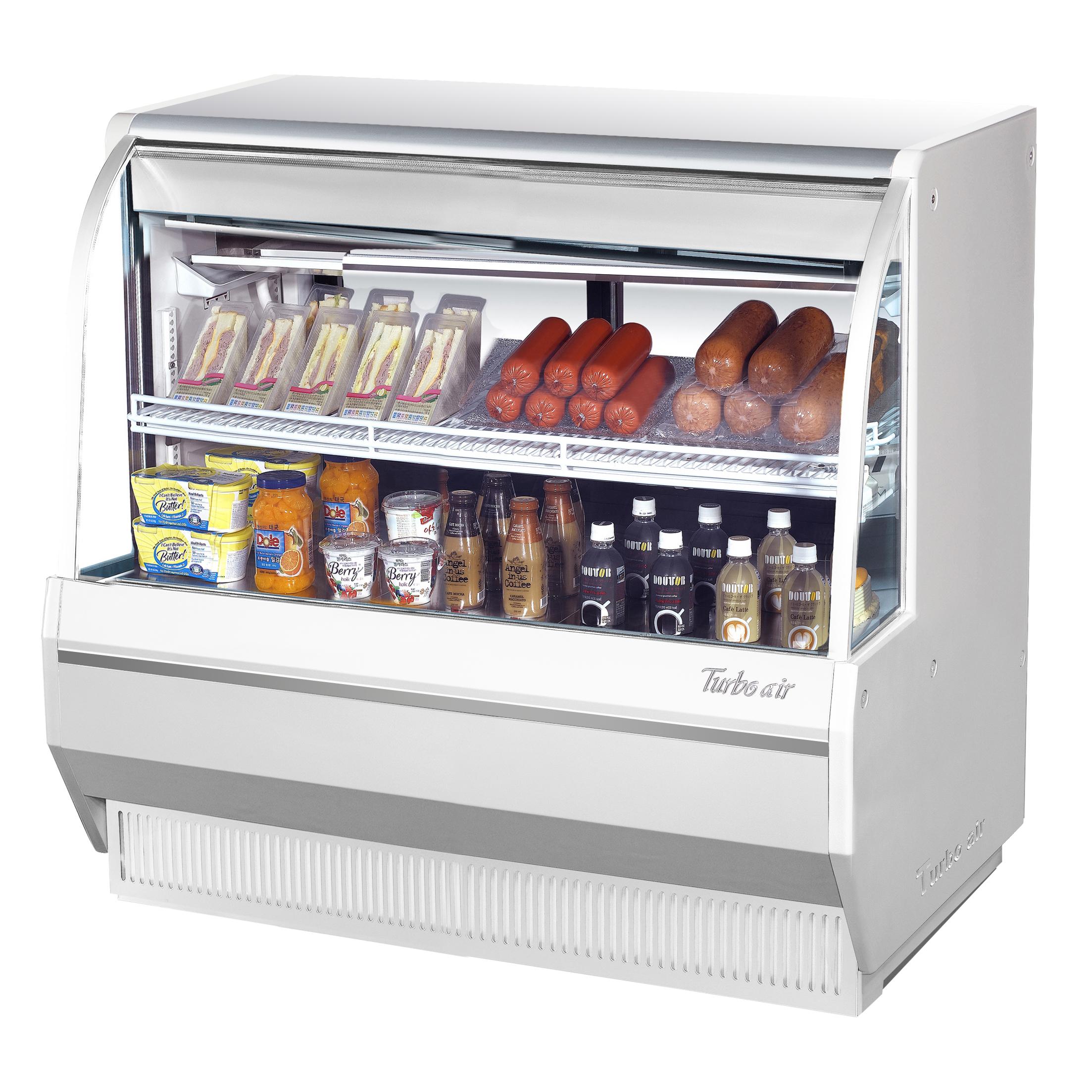 Turbo Air TCDD-48L-W(B)-N display case, refrigerated deli