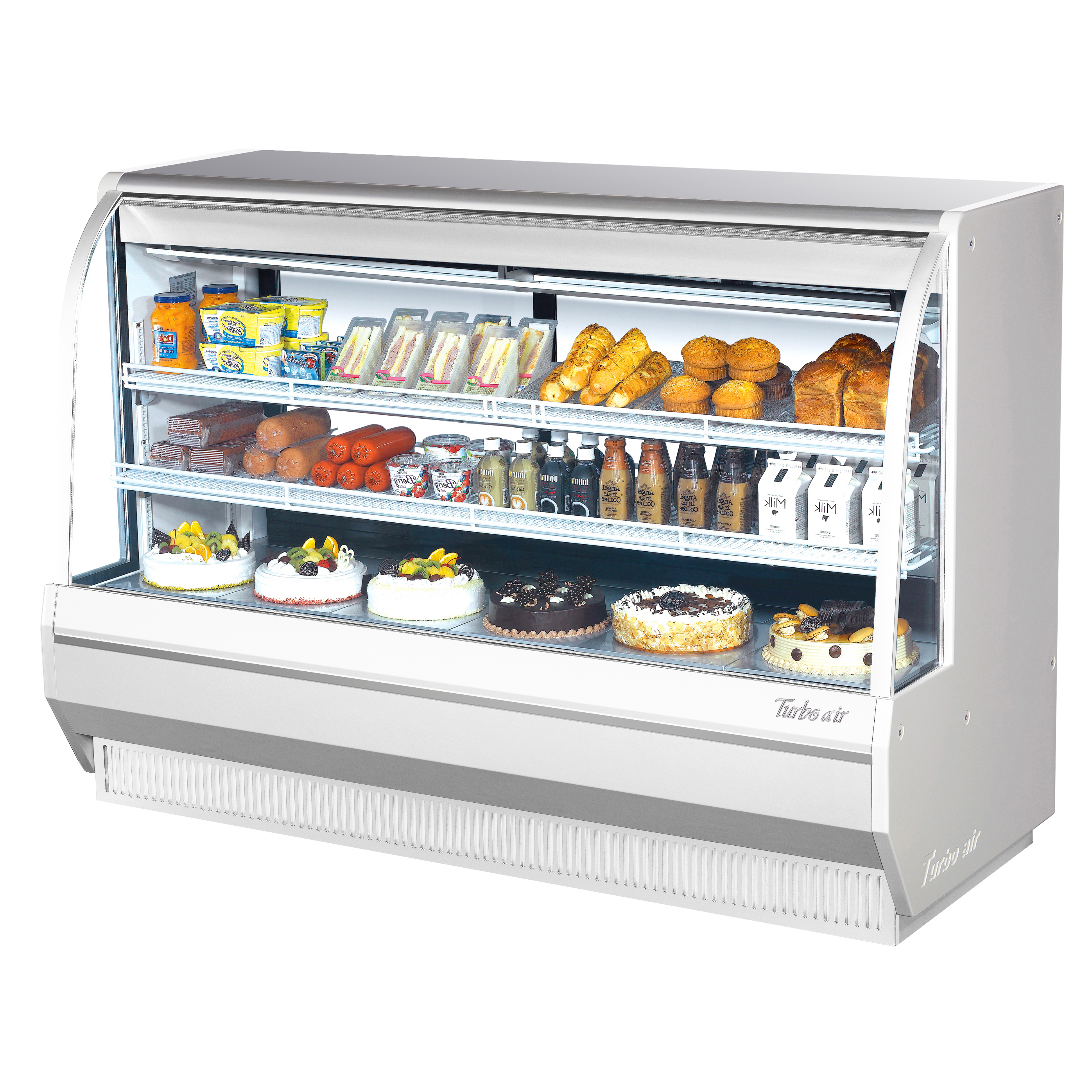 Turbo Air TCDD-72H-W(B)-N display case, refrigerated deli