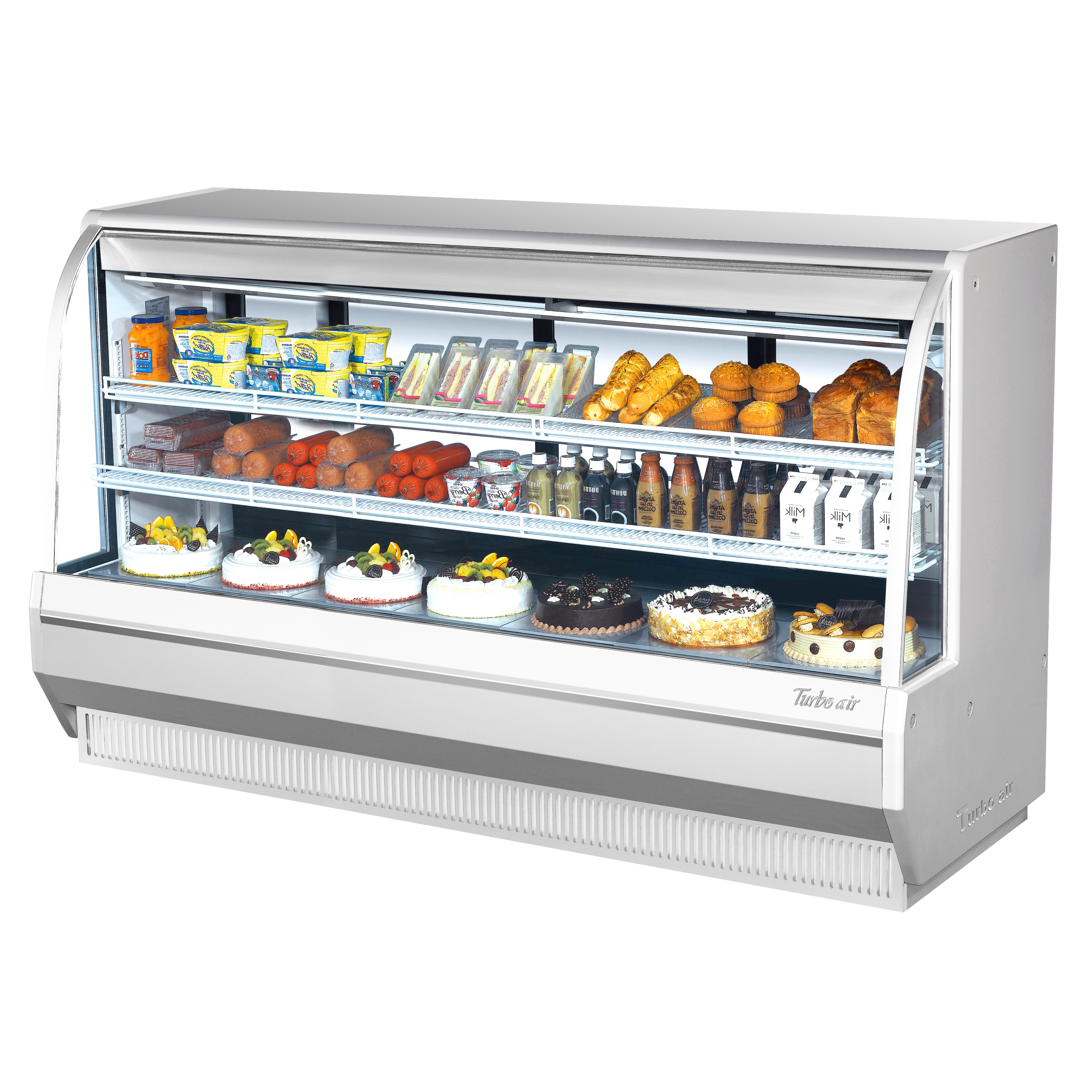 Turbo Air TCDD-96H-W(B)-N display case, refrigerated deli