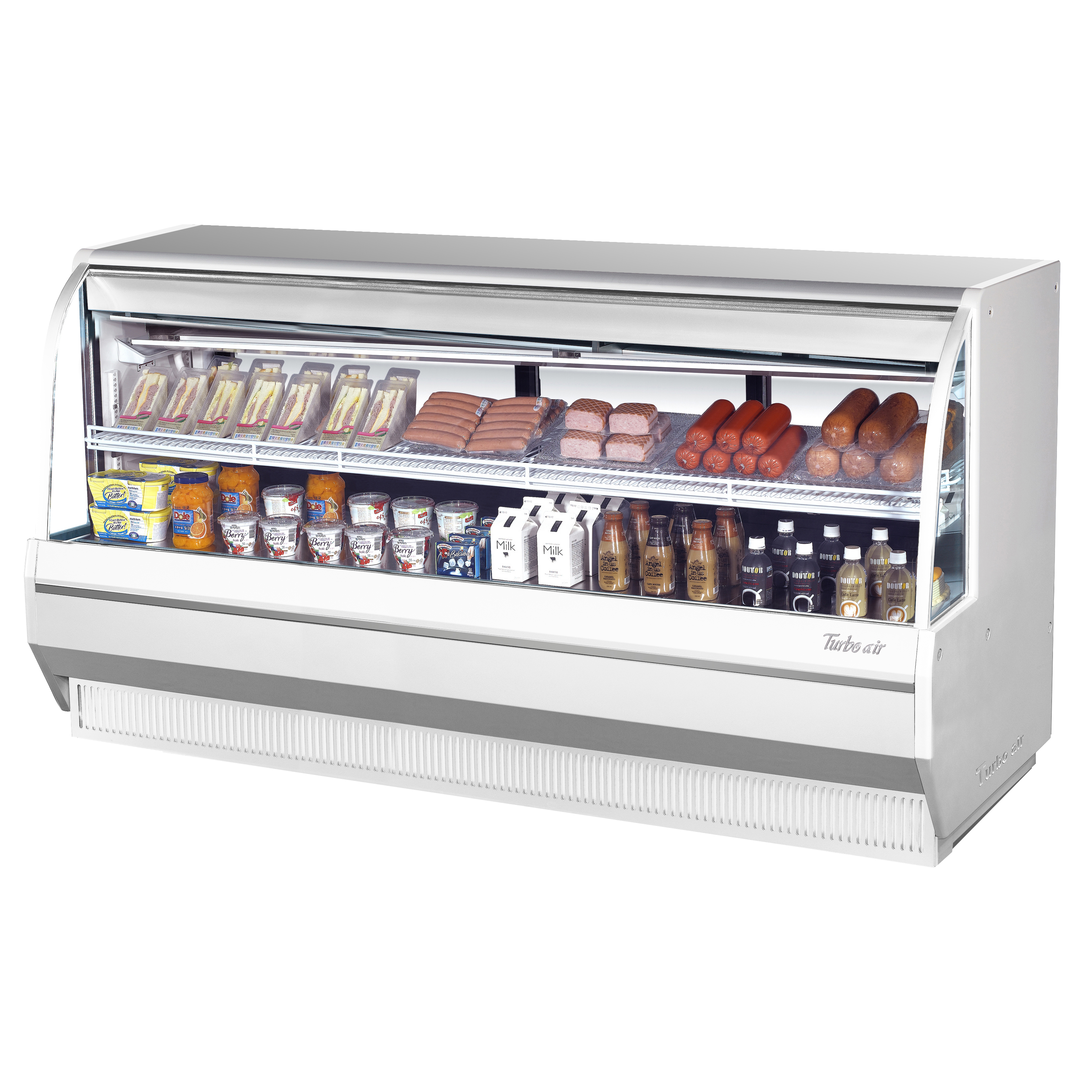 Turbo Air TCDD-96L-W(B)-N display case, refrigerated deli