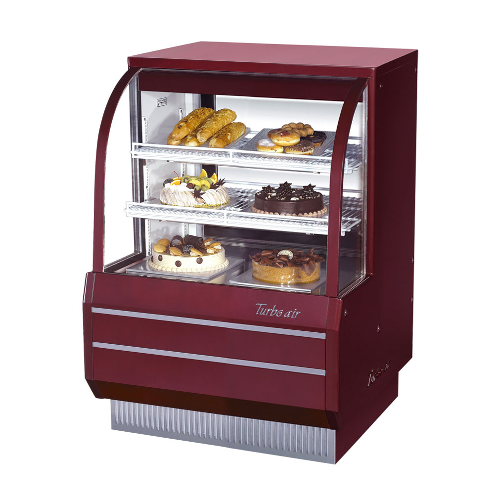 Turbo Air TCGB-36DR-R display case, non-refrigerated bakery