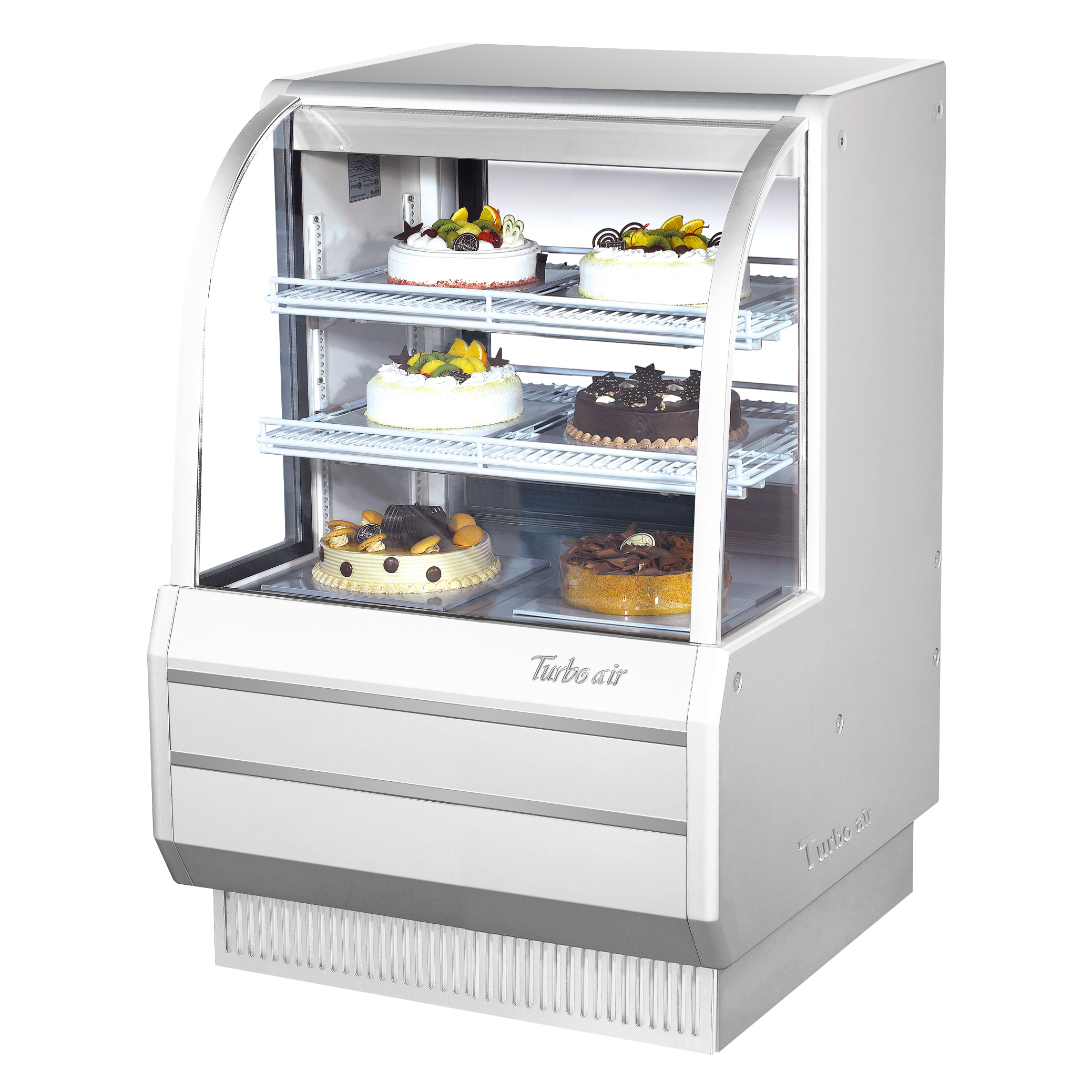 Turbo Air TCGB-36DR-W(B) display case, non-refrigerated bakery