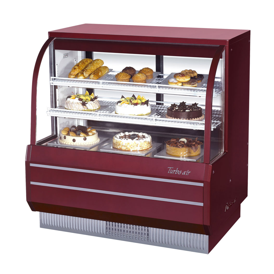 Turbo Air TCGB-48DR-R display case, non-refrigerated bakery