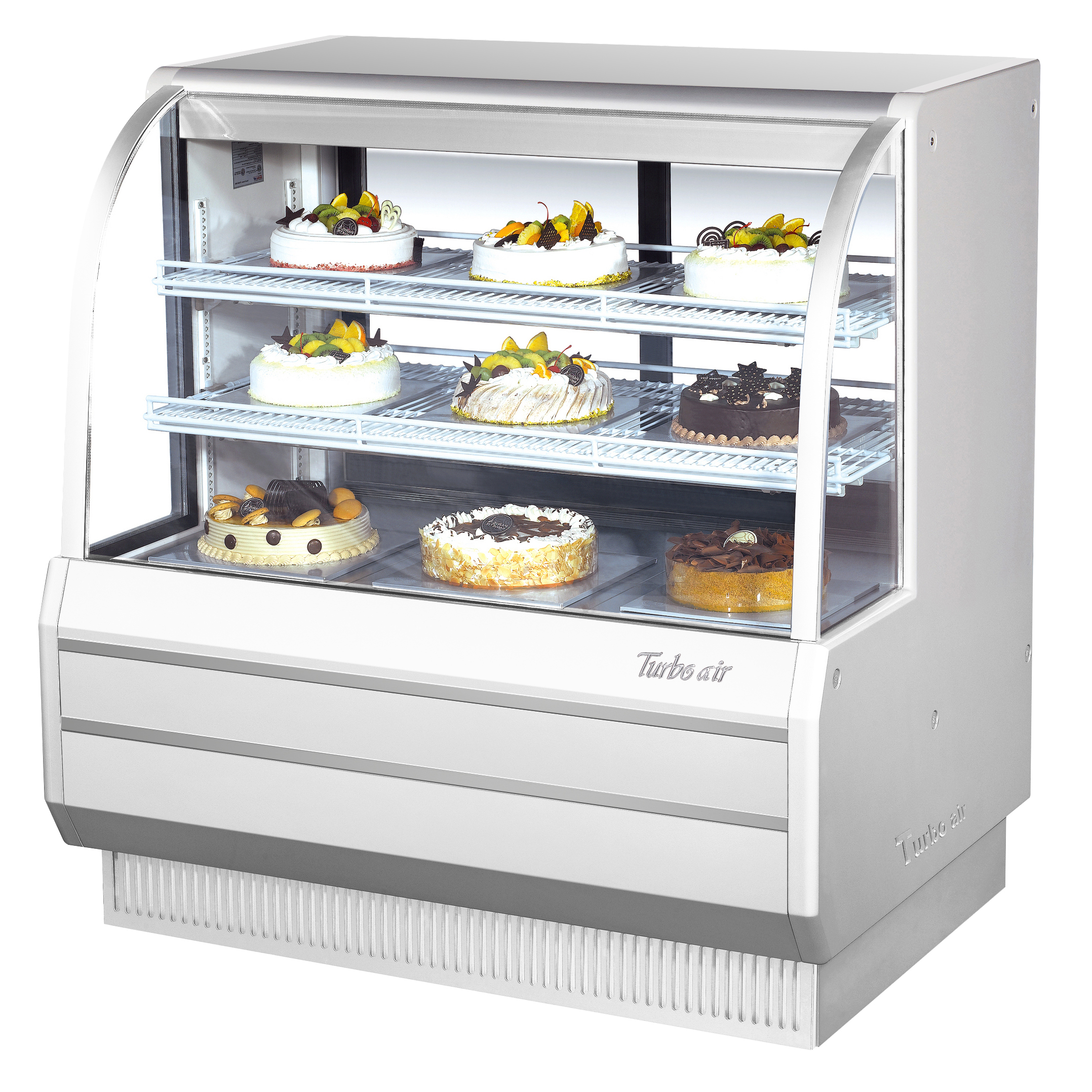 Turbo Air TCGB-48DR-W(B) display case, non-refrigerated bakery