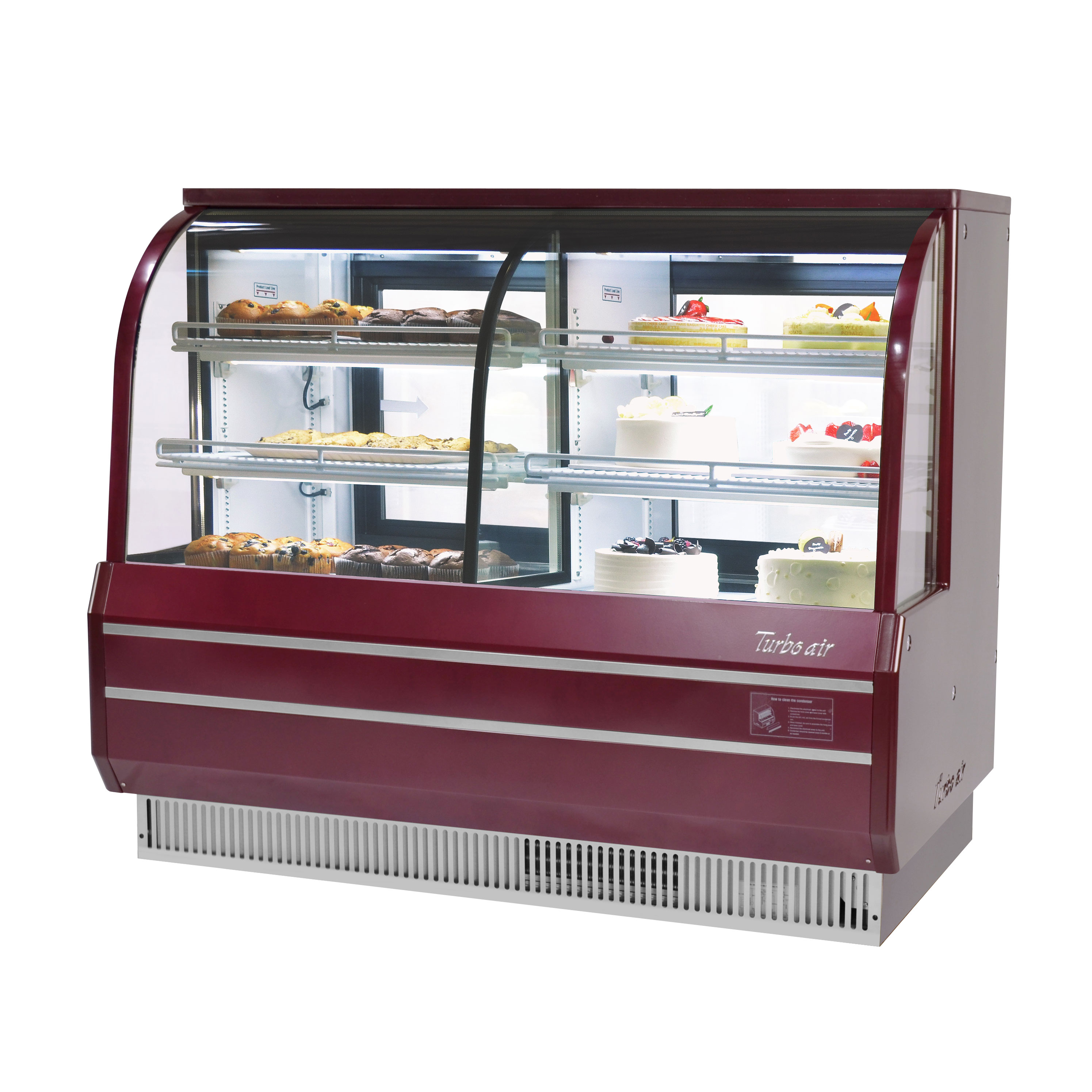 Turbo Air TCGB-72CO-R-N display case, refrigerated bakery