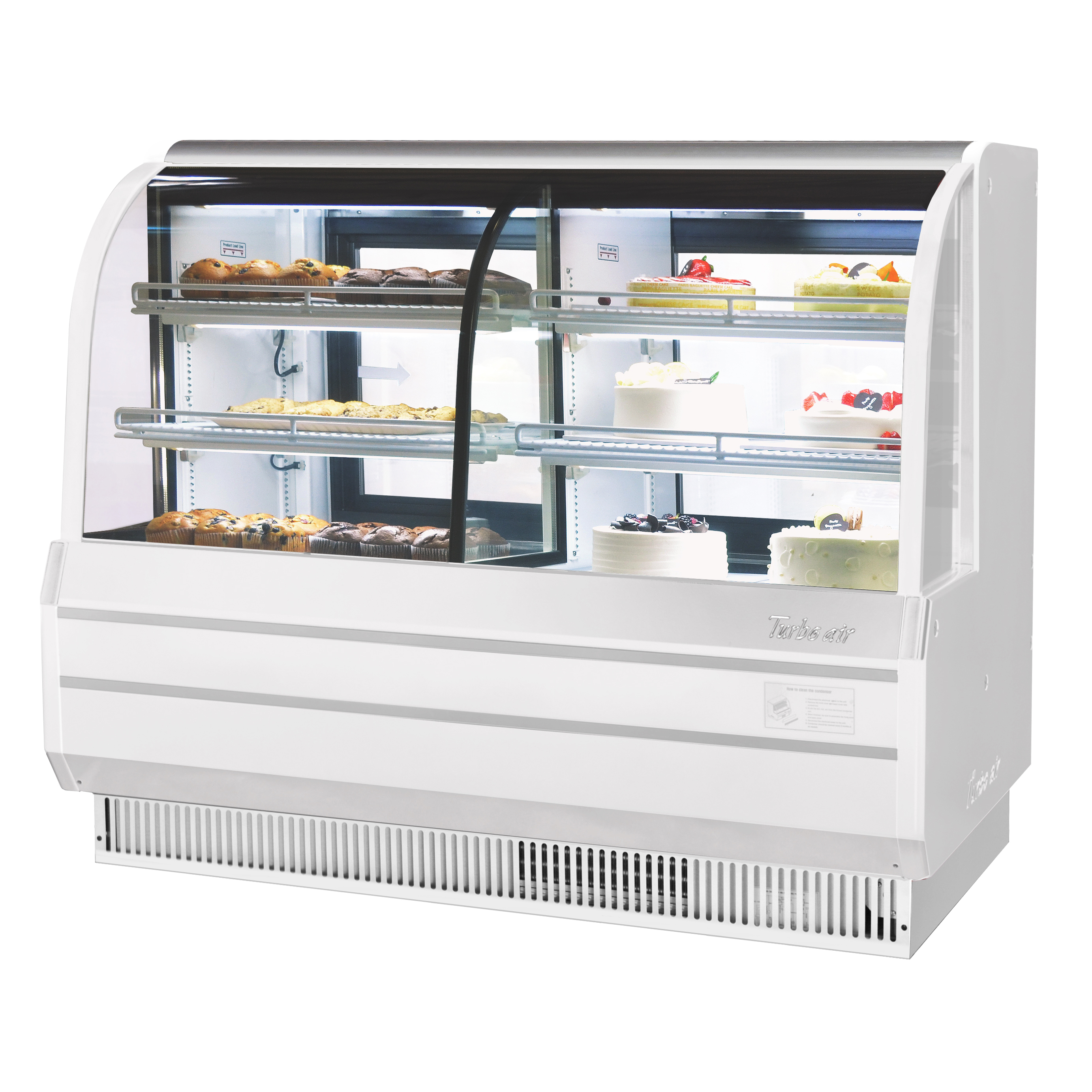 Turbo Air TCGB-72CO-W(B)-N display case, refrigerated bakery