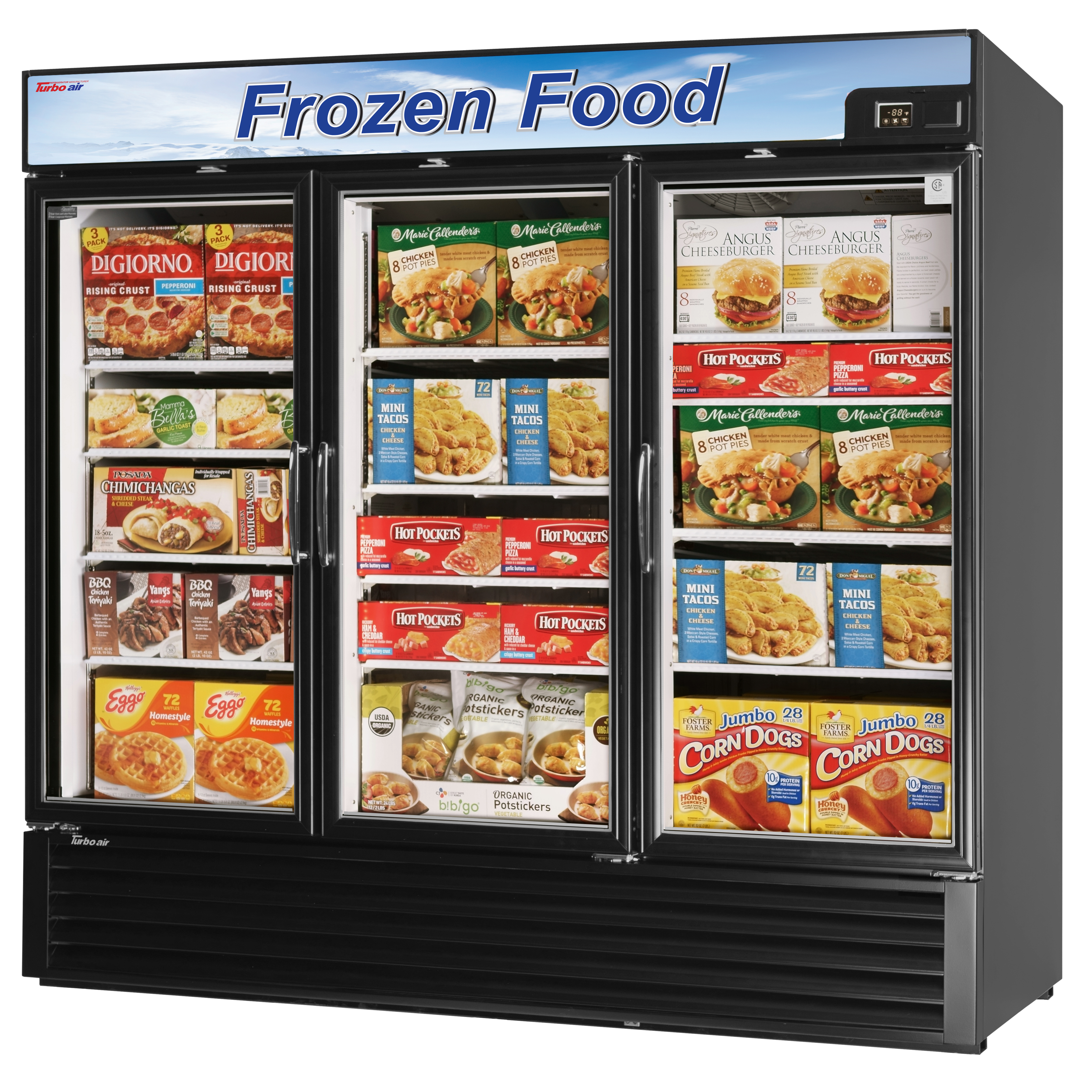 Turbo Air TGF-72FB-N freezer, merchandiser