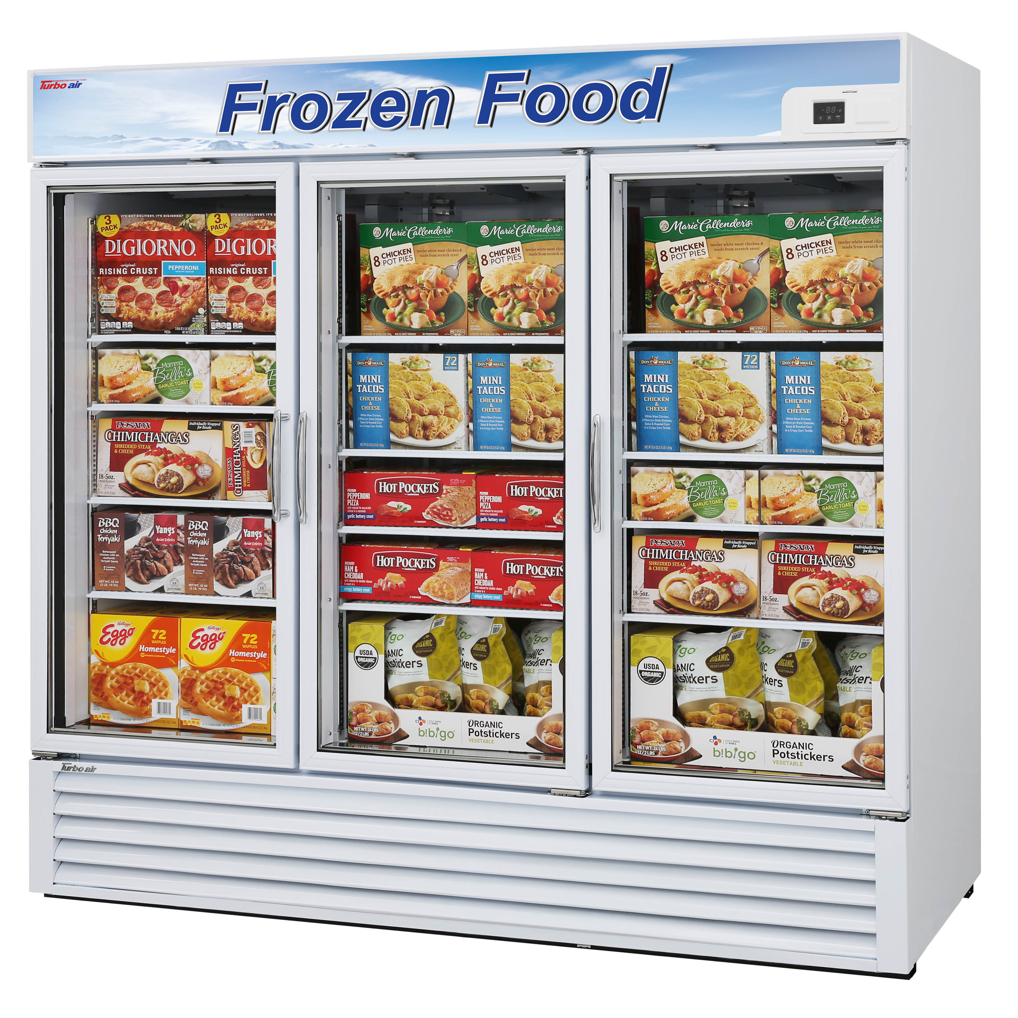 Turbo Air TGF-72F-N freezer, merchandiser