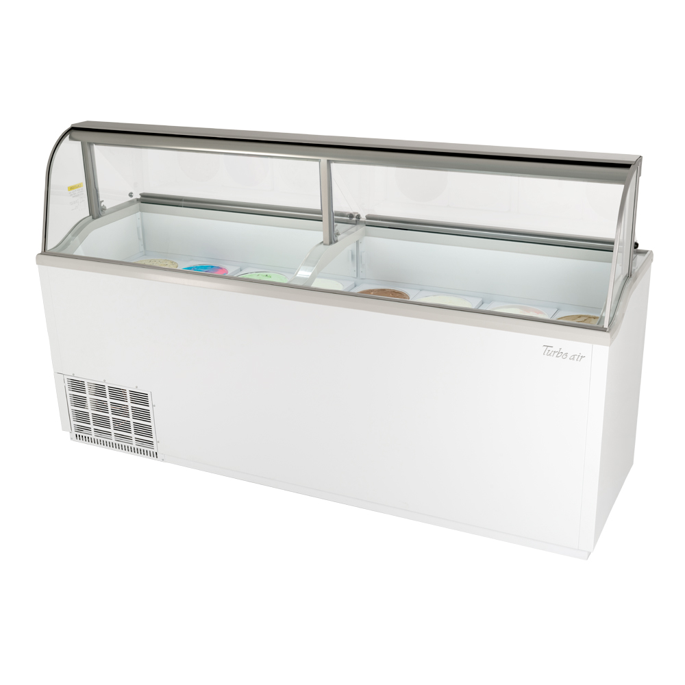 Turbo Air TIDC-91W-N display case, dipping ice cream