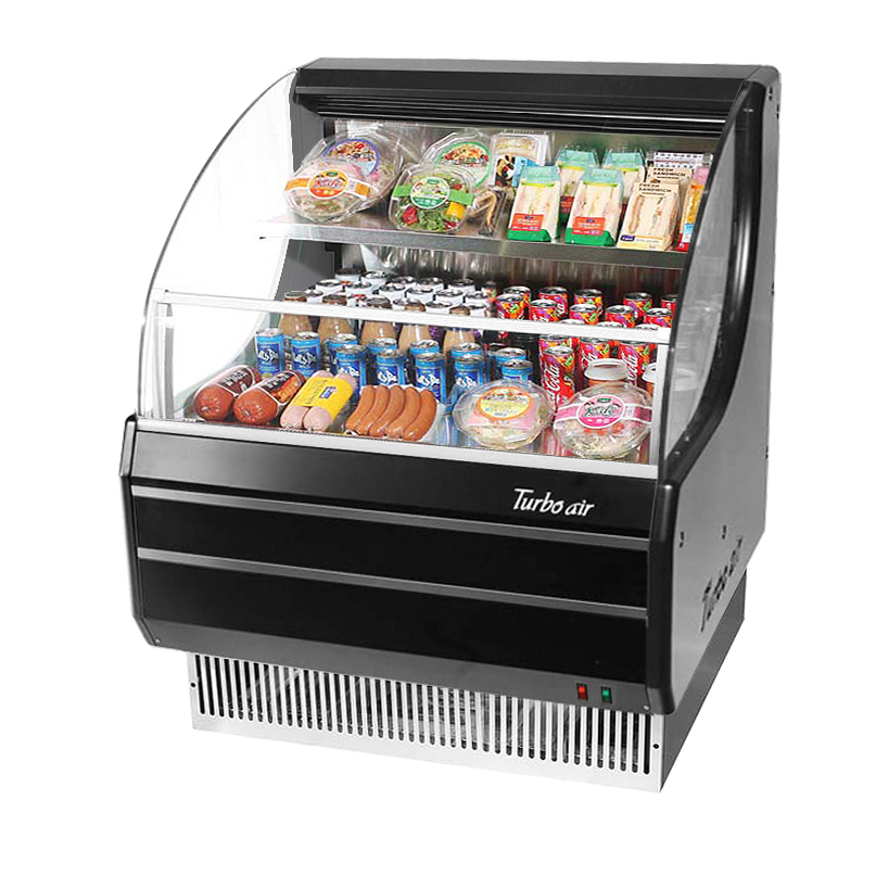 Turbo Air TOM-30LW(B)-N merchandiser, open refrigerated display