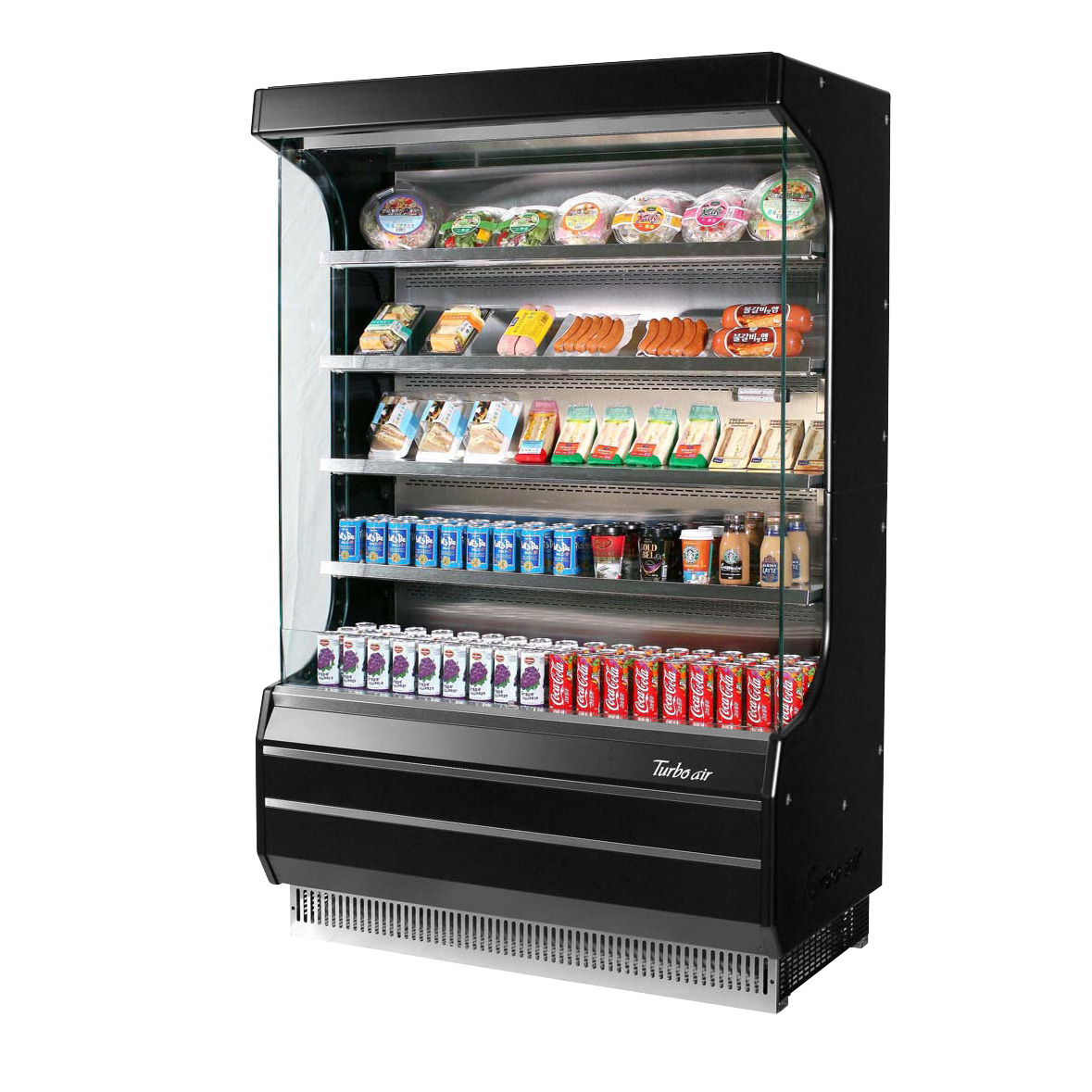 Turbo Air TOM-40W(B)-N merchandiser, open refrigerated display