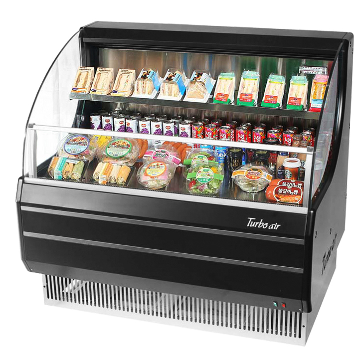 Turbo Air TOM-40LW(B)-N merchandiser, open refrigerated display