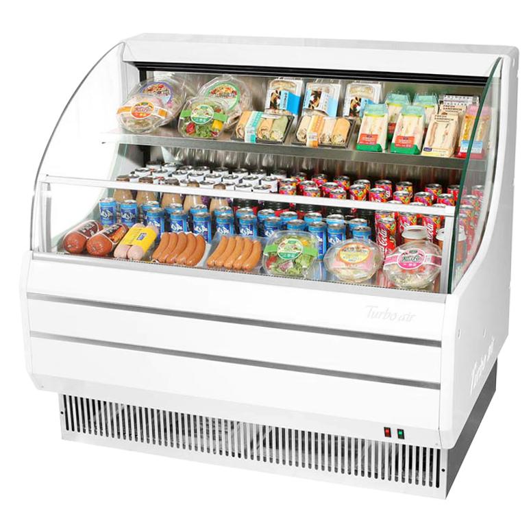 Turbo Air TOM-50LW-N merchandiser, open refrigerated display