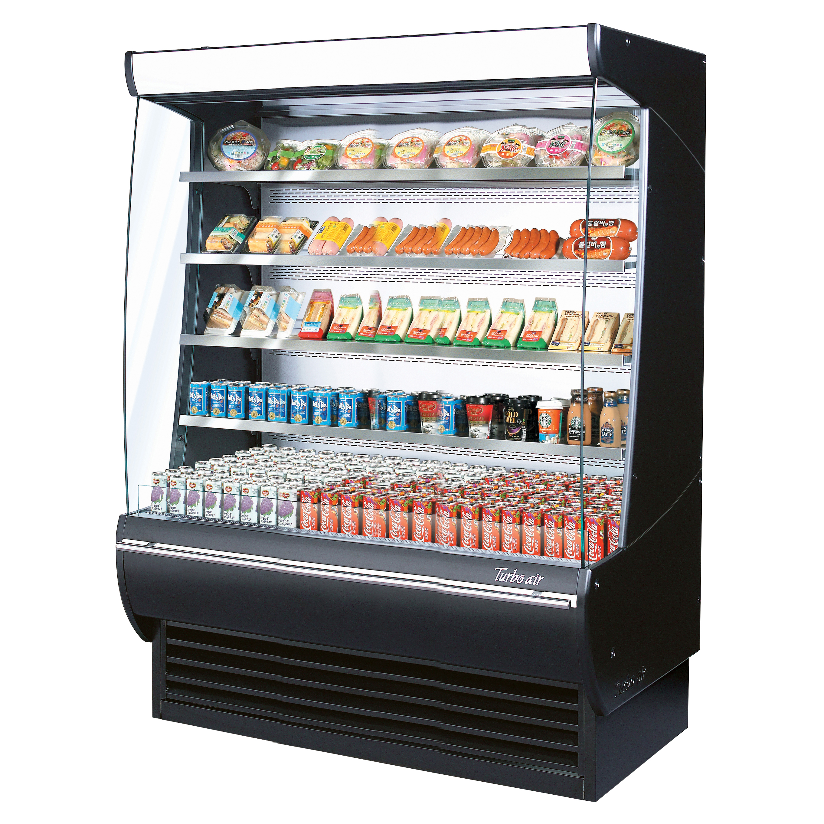 Turbo Air TOM-60DXB-N merchandiser, open refrigerated display