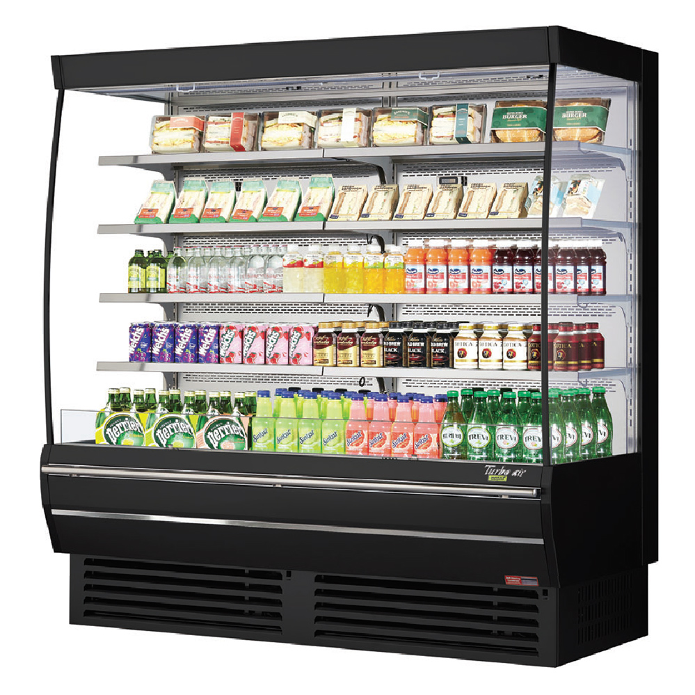 Turbo Air TOM-72DX-N merchandiser, open refrigerated display