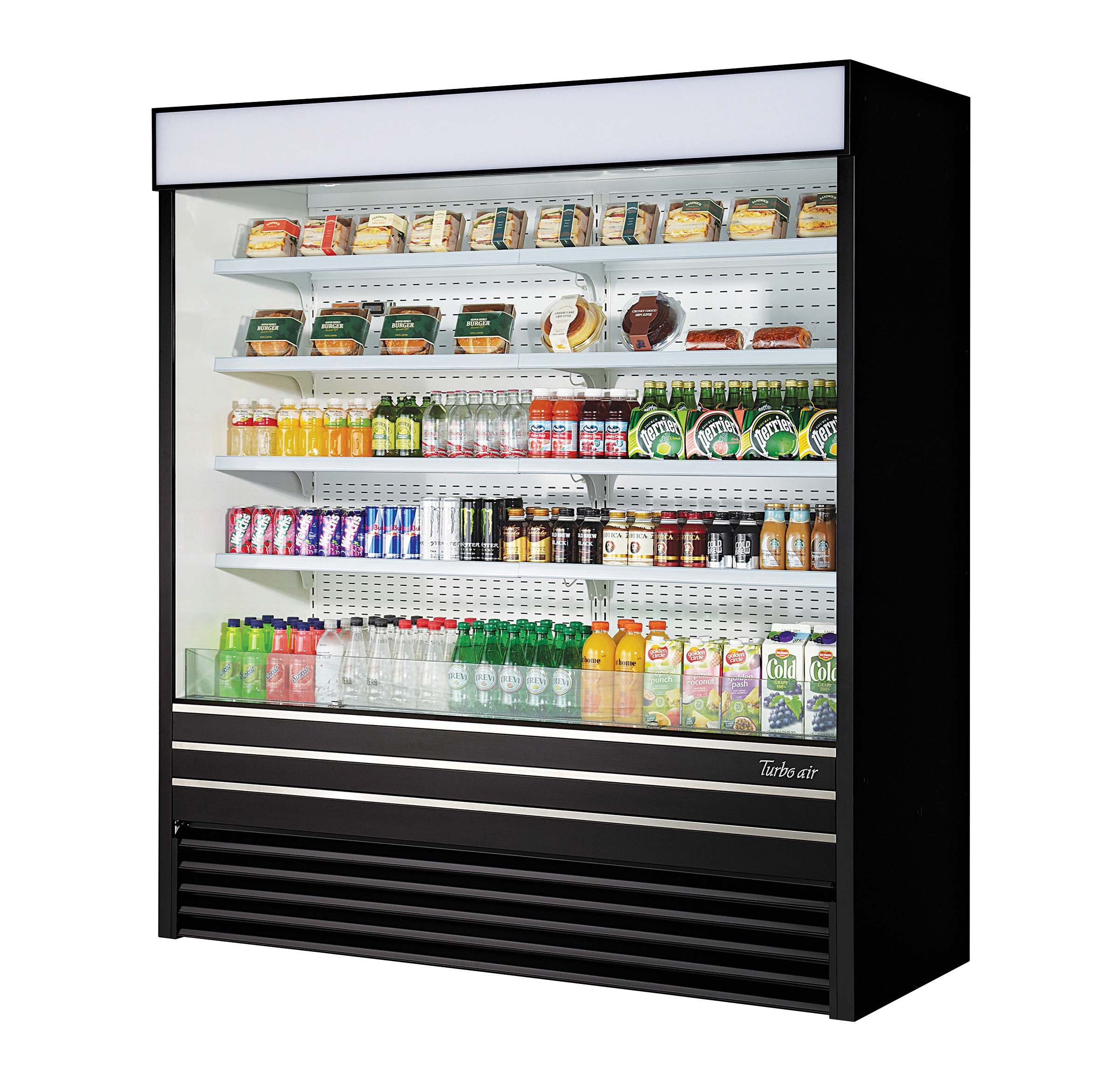 TOM-72EB-N Turbo Air merchandiser, open refrigerated display