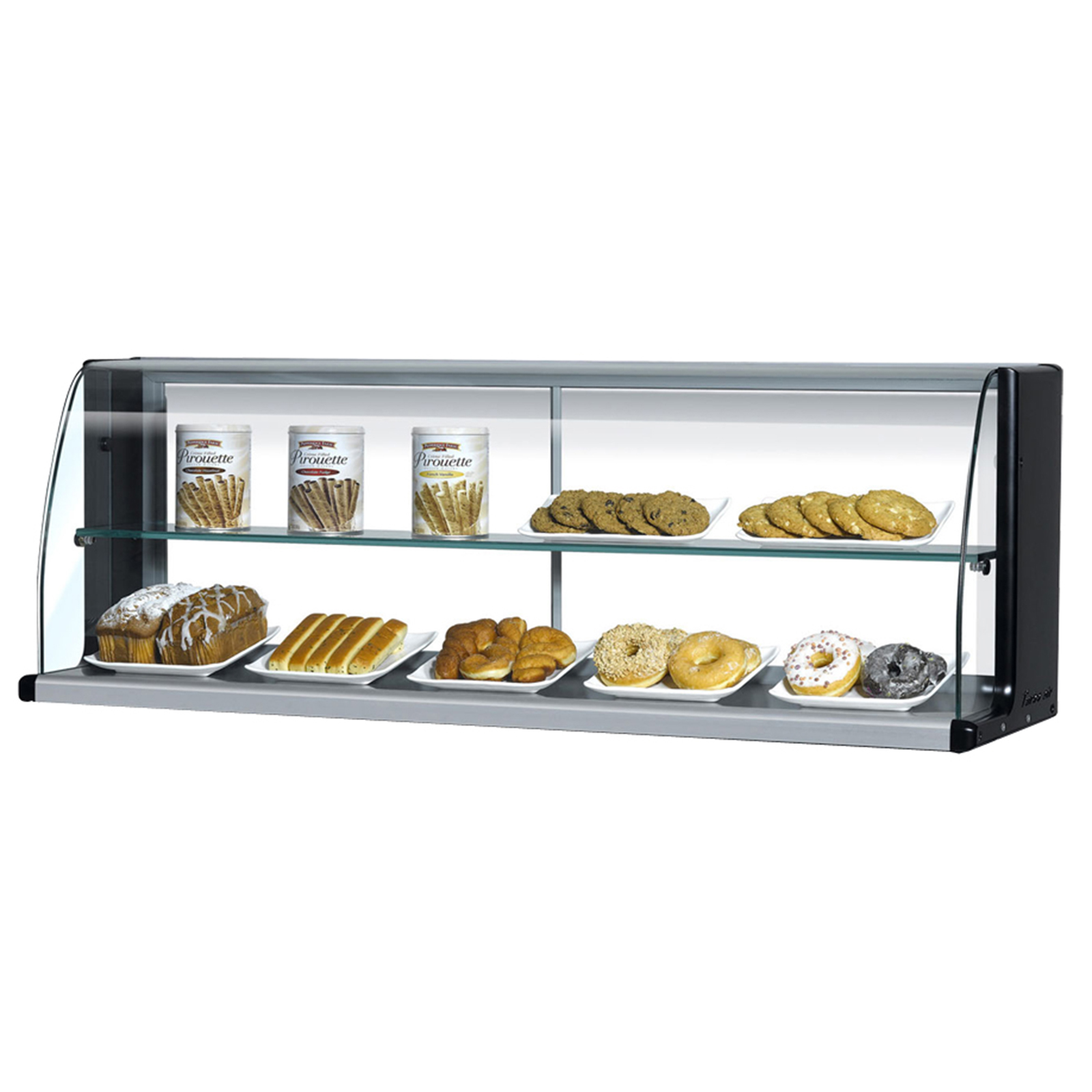 Turbo Air TOMD-60HW(B) display case, non-refrigerated countertop