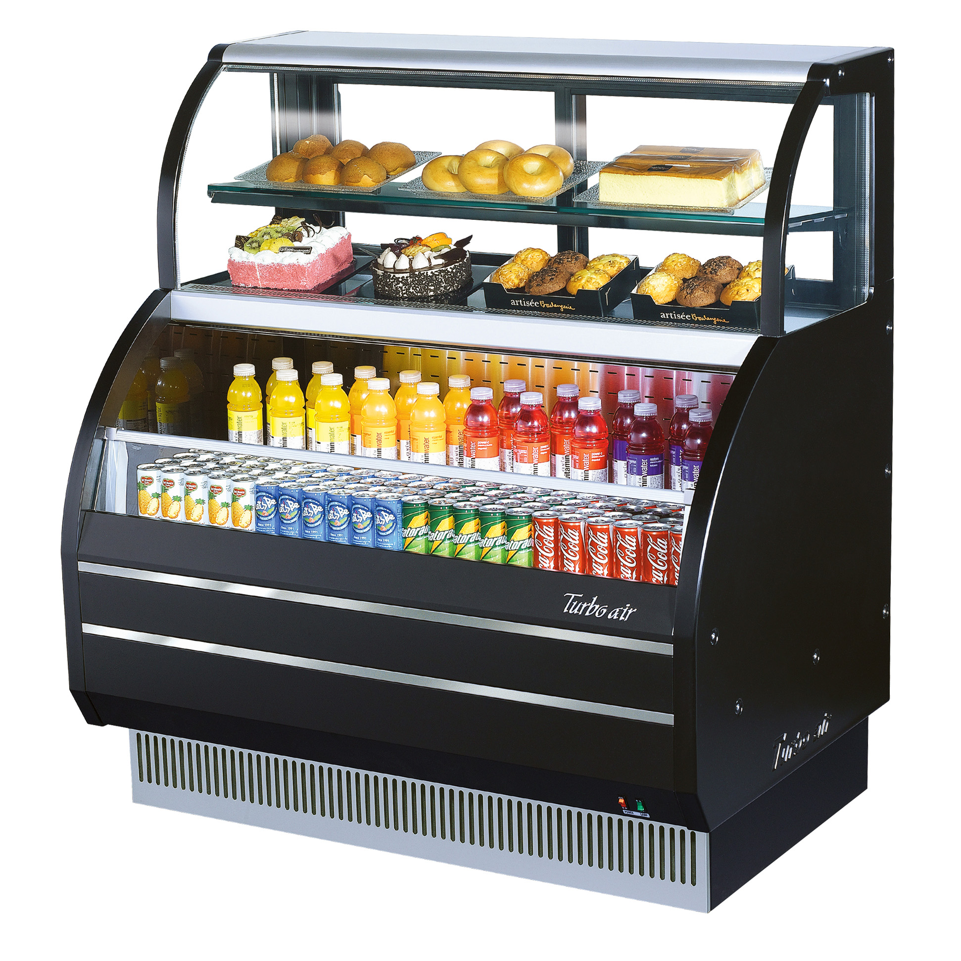 Turbo Air TOM-W-40SB-N merchandiser, open refrigerated display