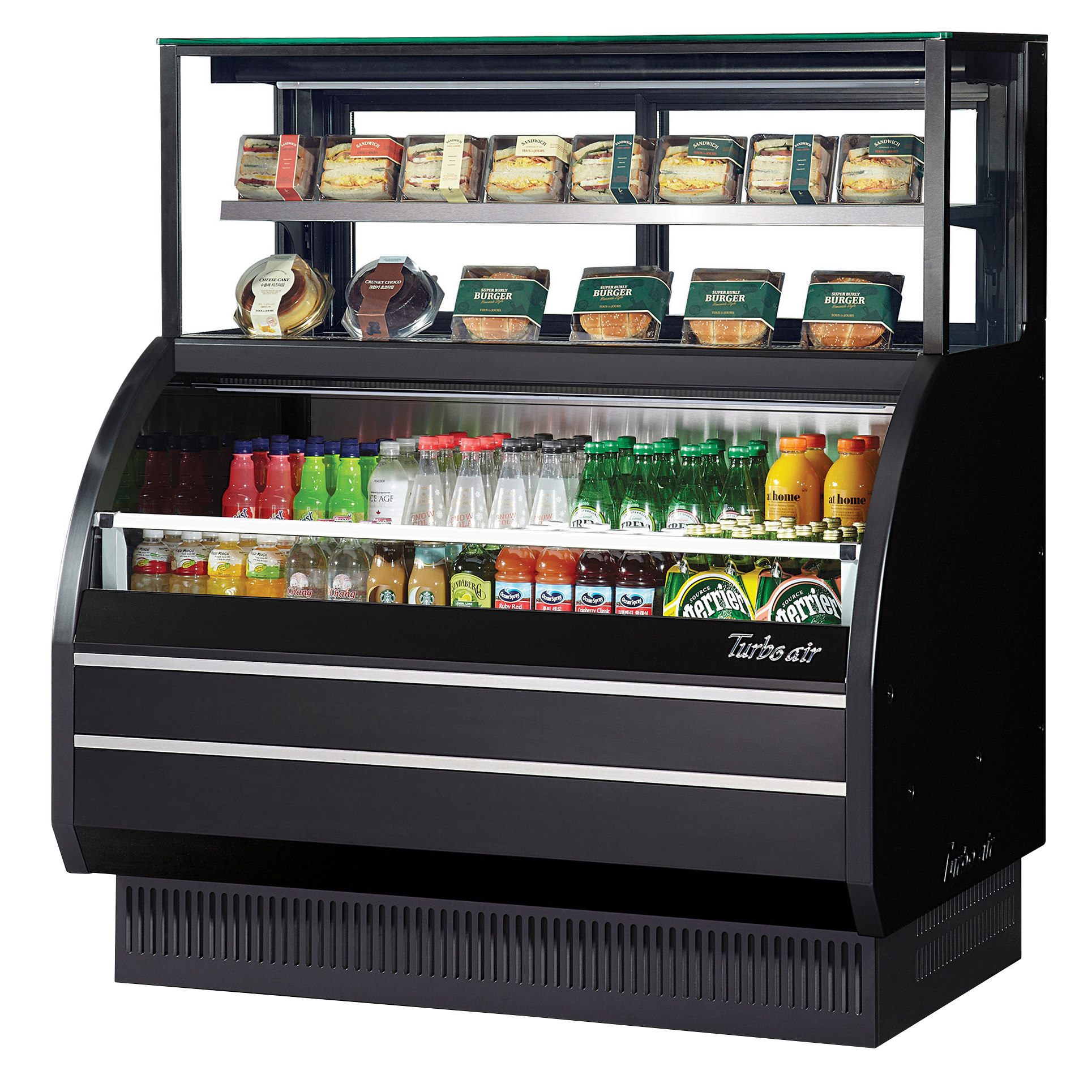 Turbo Air TOM-W-40SB-UF-N merchandiser, open refrigerated display