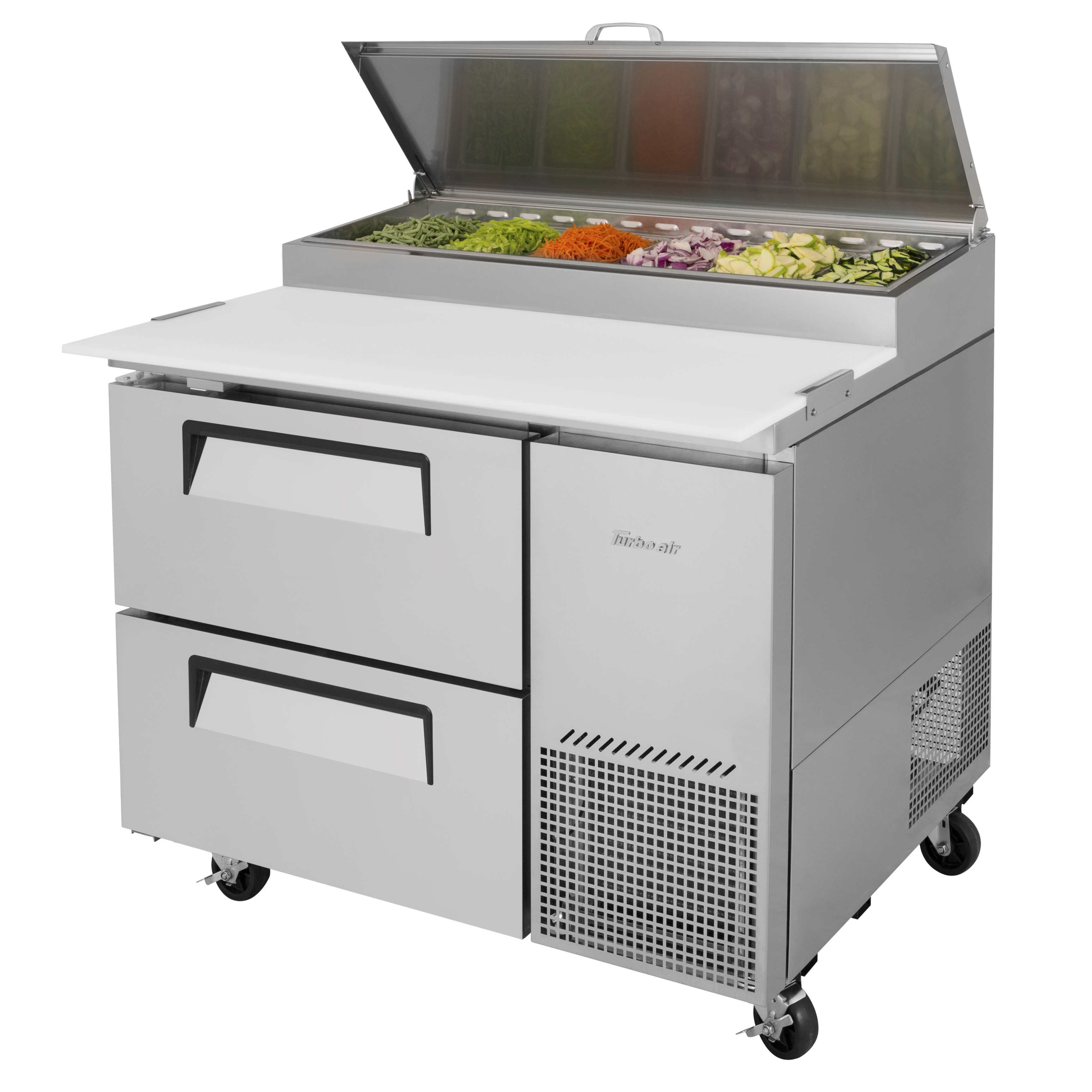 Turbo Air TPR-44SD-D2-N refrigerated counter, pizza prep table