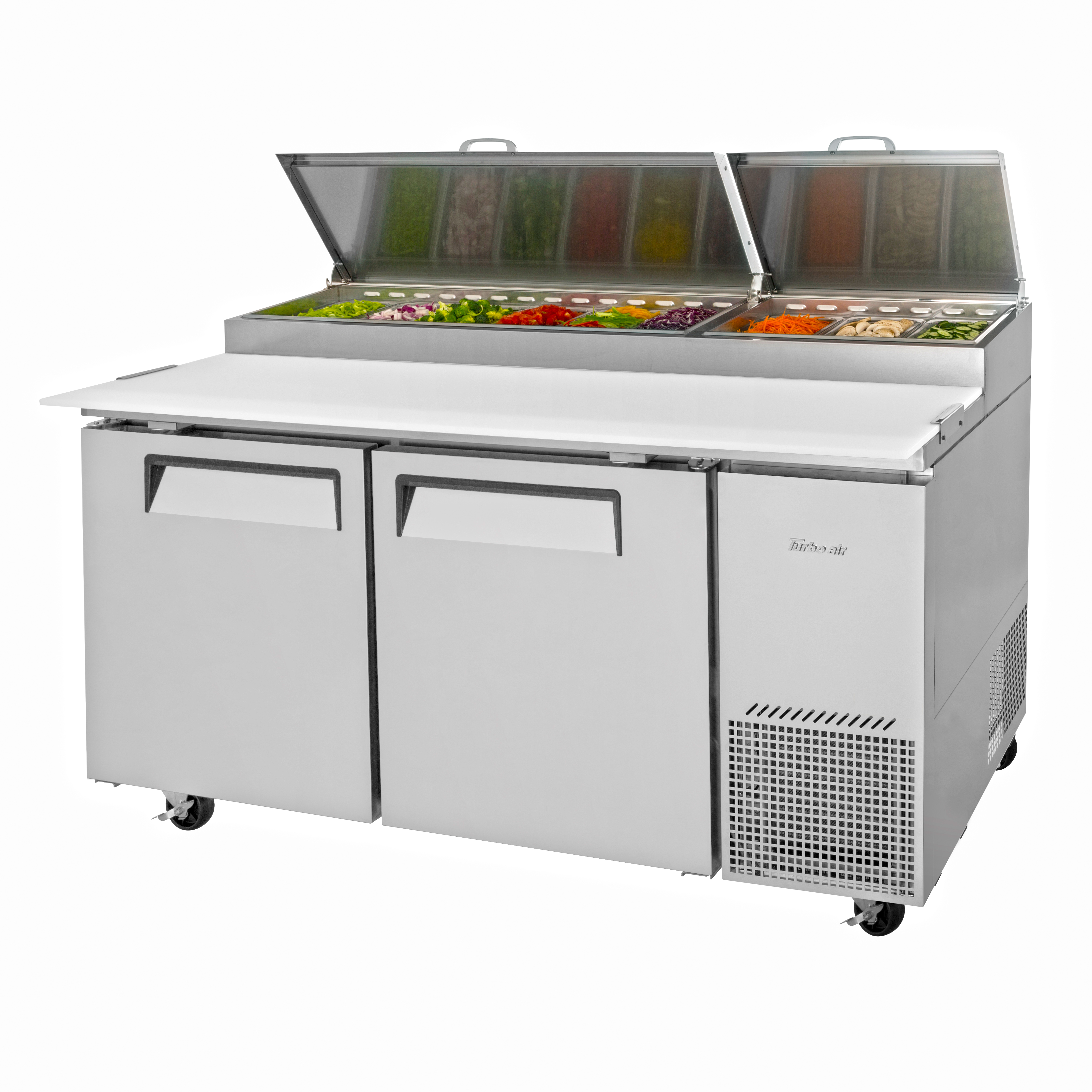 Turbo Air TPR-67SD-N refrigerated counter, pizza prep table