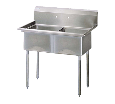 Turbo Air TSA-2-N sink, (2) two compartment
