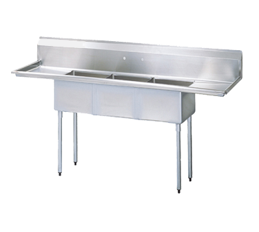 Turbo Air TSA-3-D1 sink, (3) three compartment