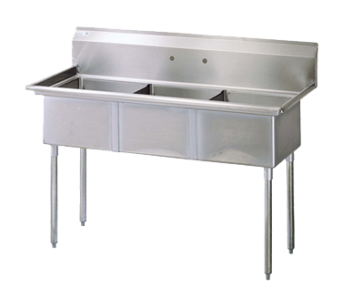 Turbo Air TSA-3-N sink, (3) three compartment