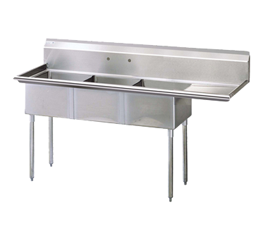 Turbo Air TSA-3-R1 sink, (3) three compartment