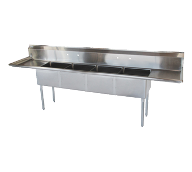 Turbo Air TSA-4-D1 sink, (4) four compartment