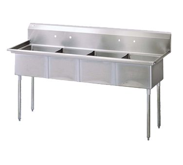 Turbo Air TSA-4-N sink, (4) four compartment