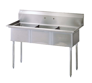Turbo Air TSB-3-N sink, (3) three compartment