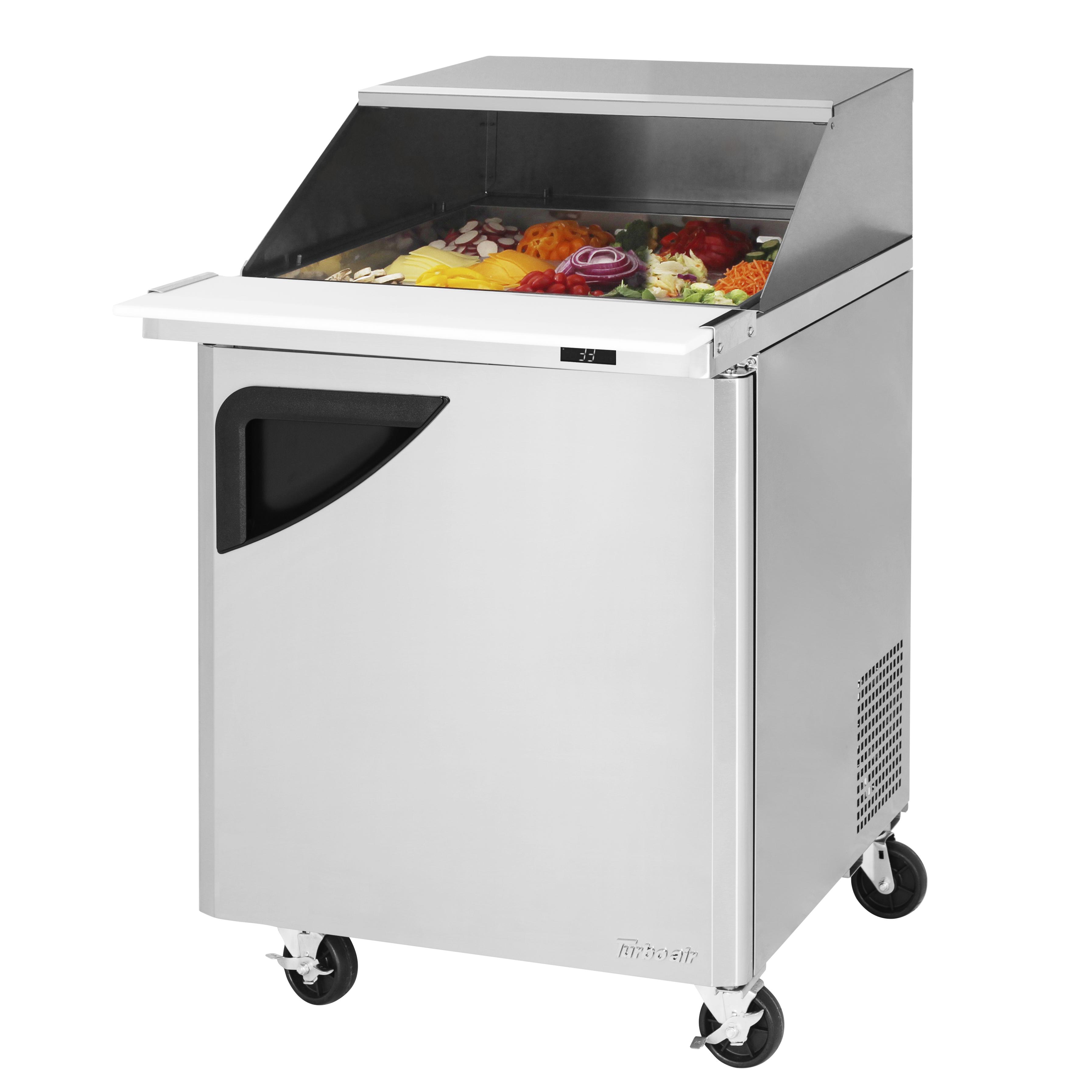 Turbo Air TST-28SD-12-N-SL refrigerated counter, mega top sandwich / salad unit