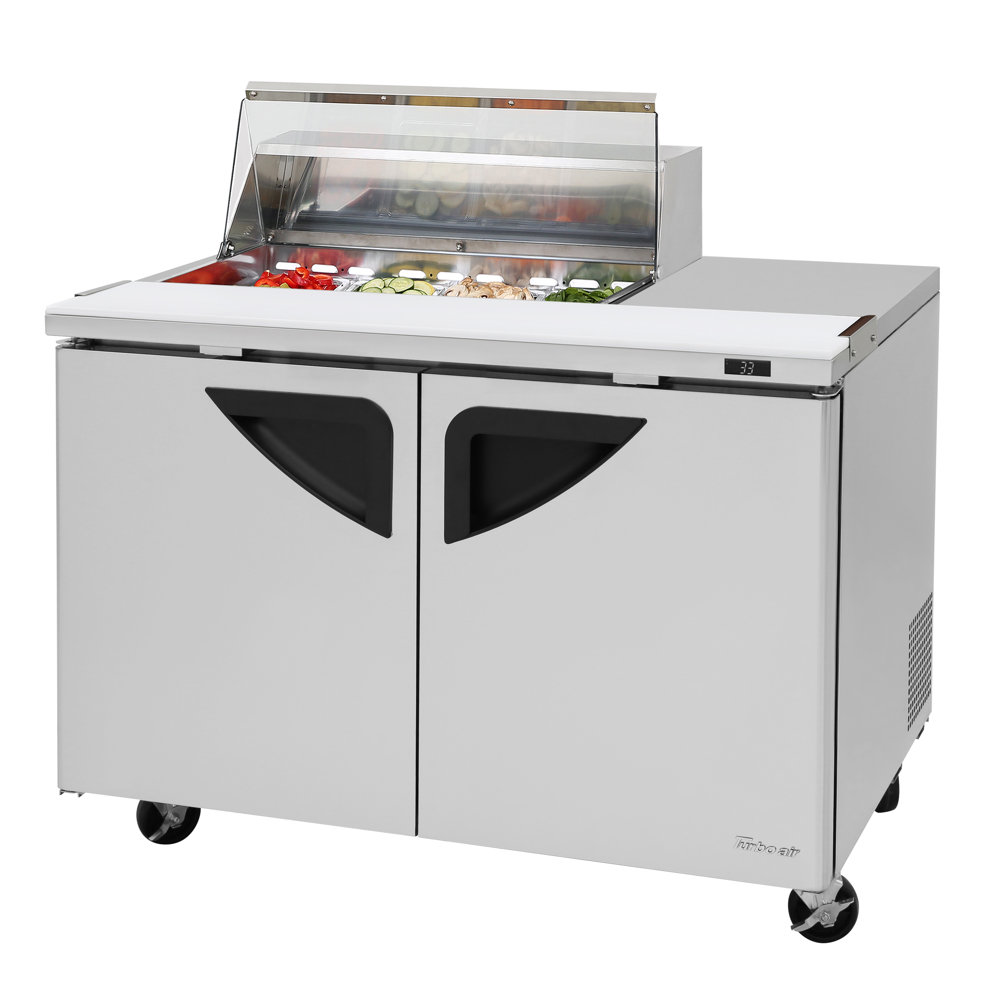 Turbo Air TST-48SD-08S-N-CL refrigerated counter, sandwich / salad unit