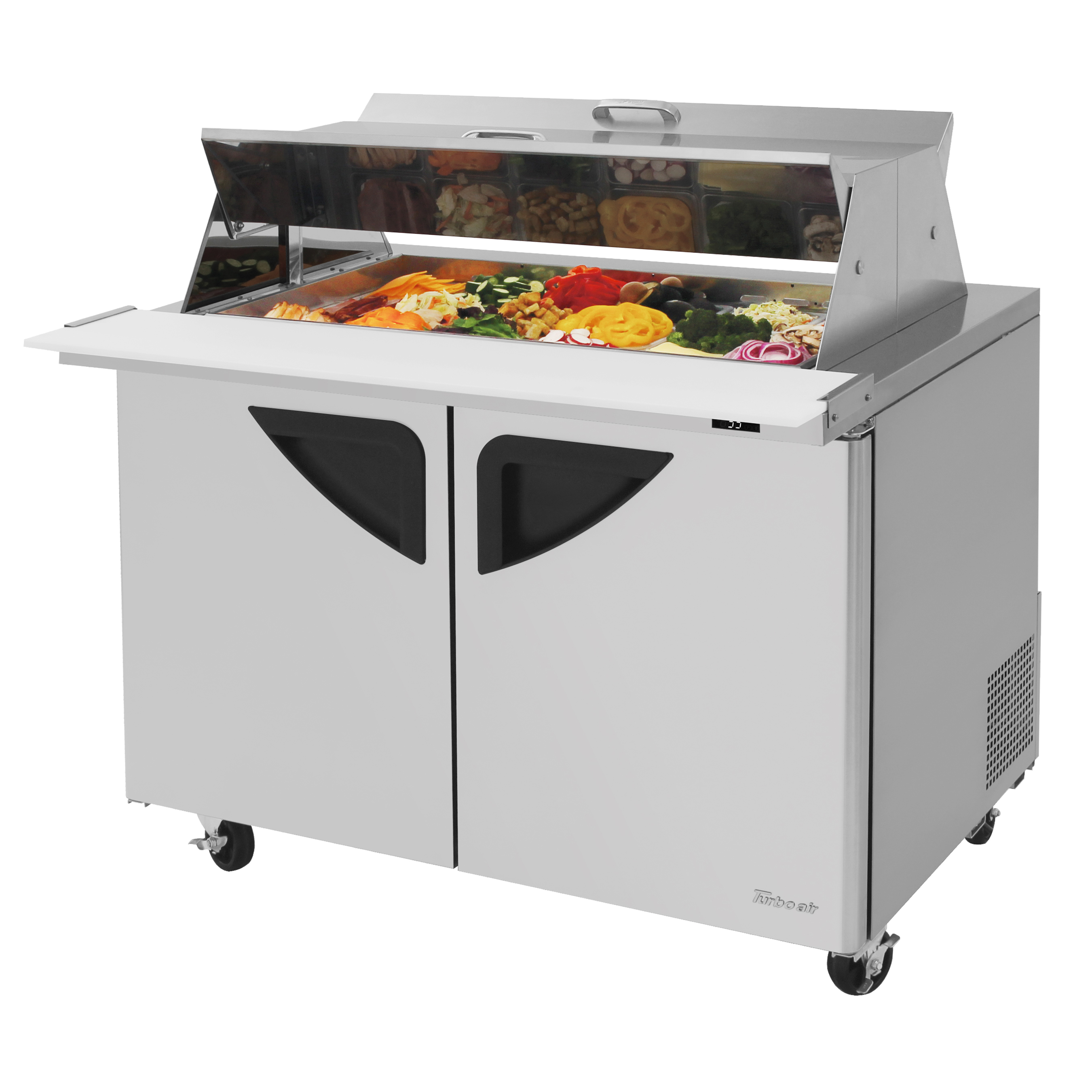 Turbo Air TST-48SD-18-N-DS refrigerated counter, mega top sandwich / salad unit